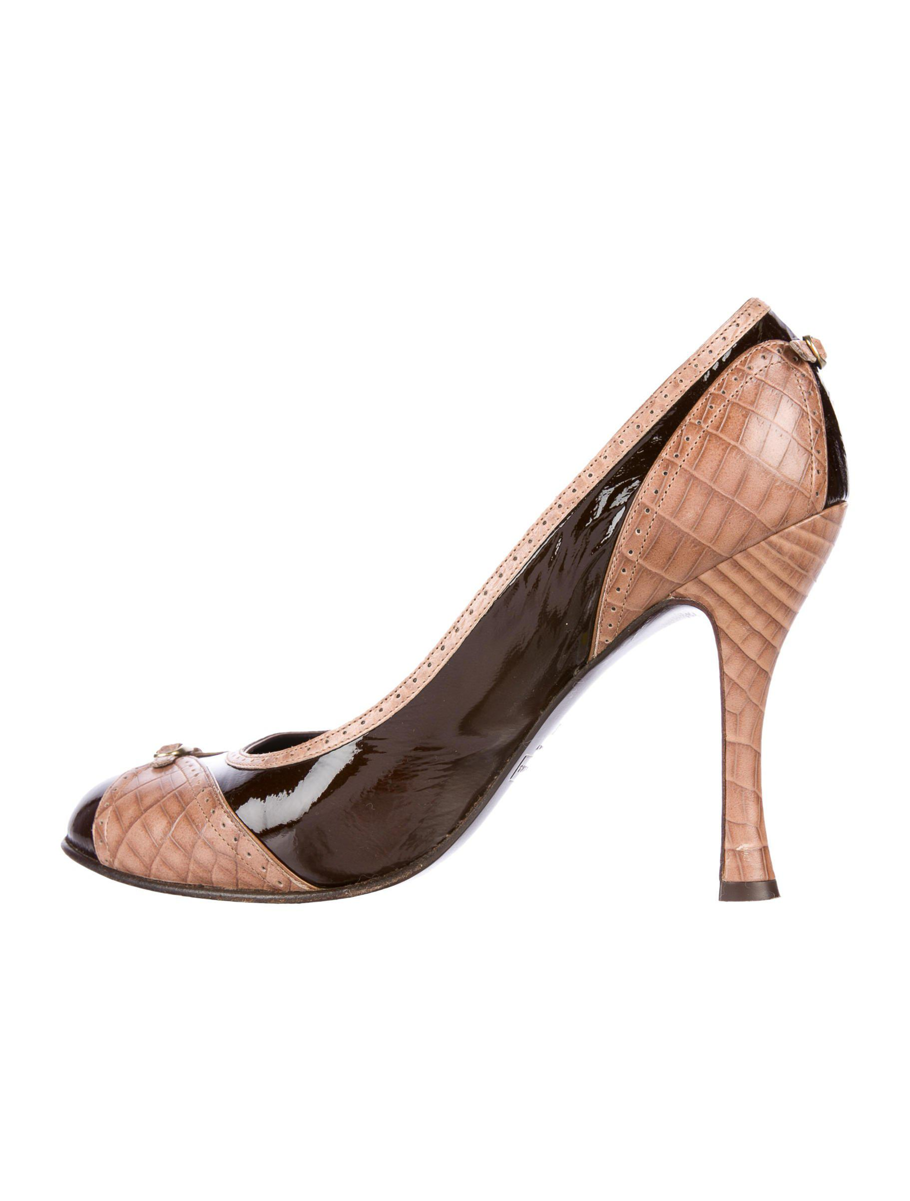 pre order cheap price Marc Jacobs Snakeskin Round-Toe Pumps pay with paypal cheap online clearance best seller 2014 new online under $60 sale online ODH3w