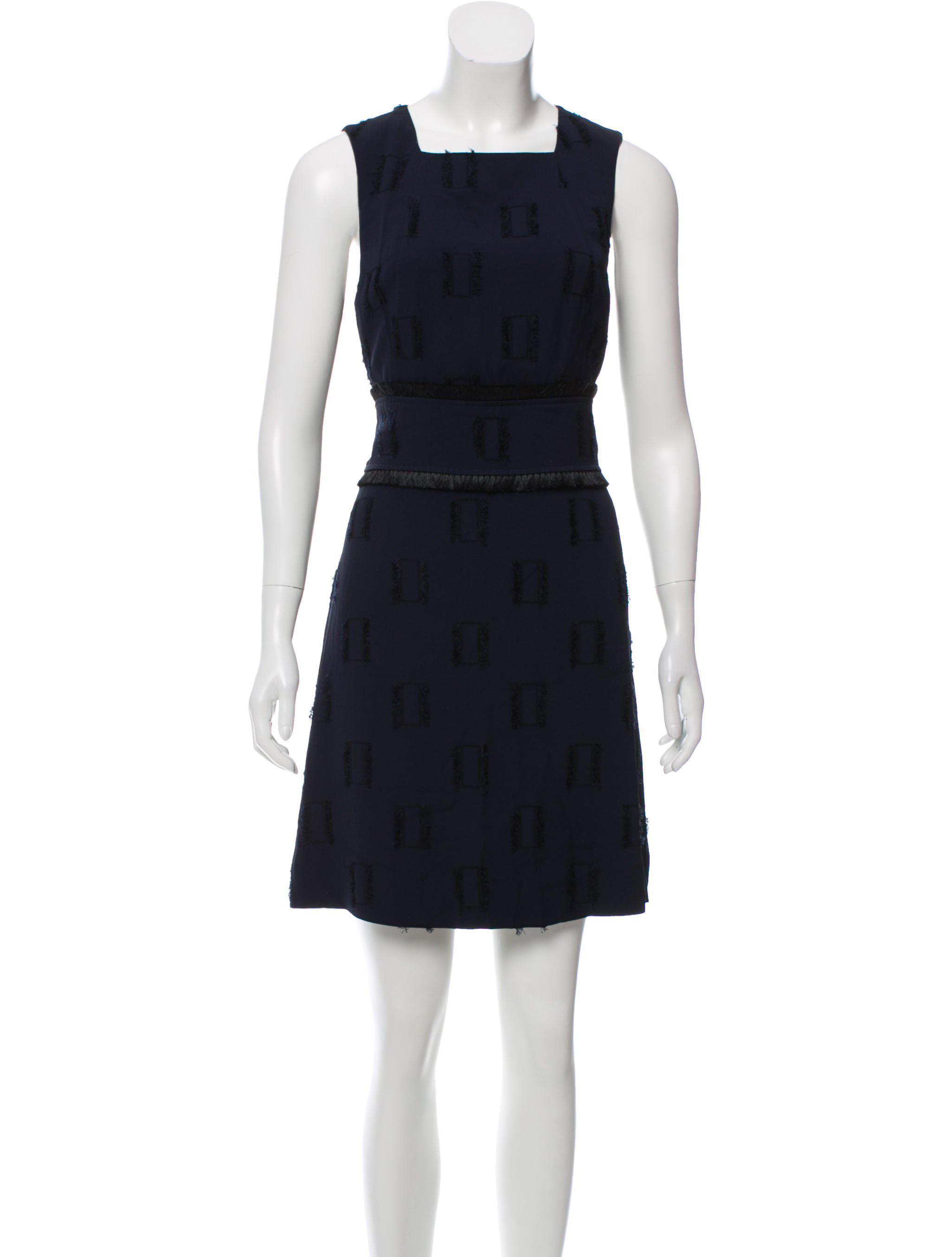 1ac9a7e2a Lyst - 10 Crosby Derek Lam Fringe-accented Shift Dress in Blue