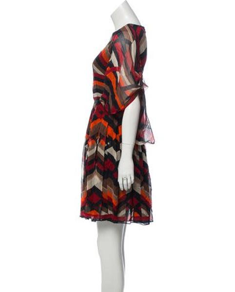 fb800cd545 Lyst - Giambattista Valli Printed Silk Dress in Black