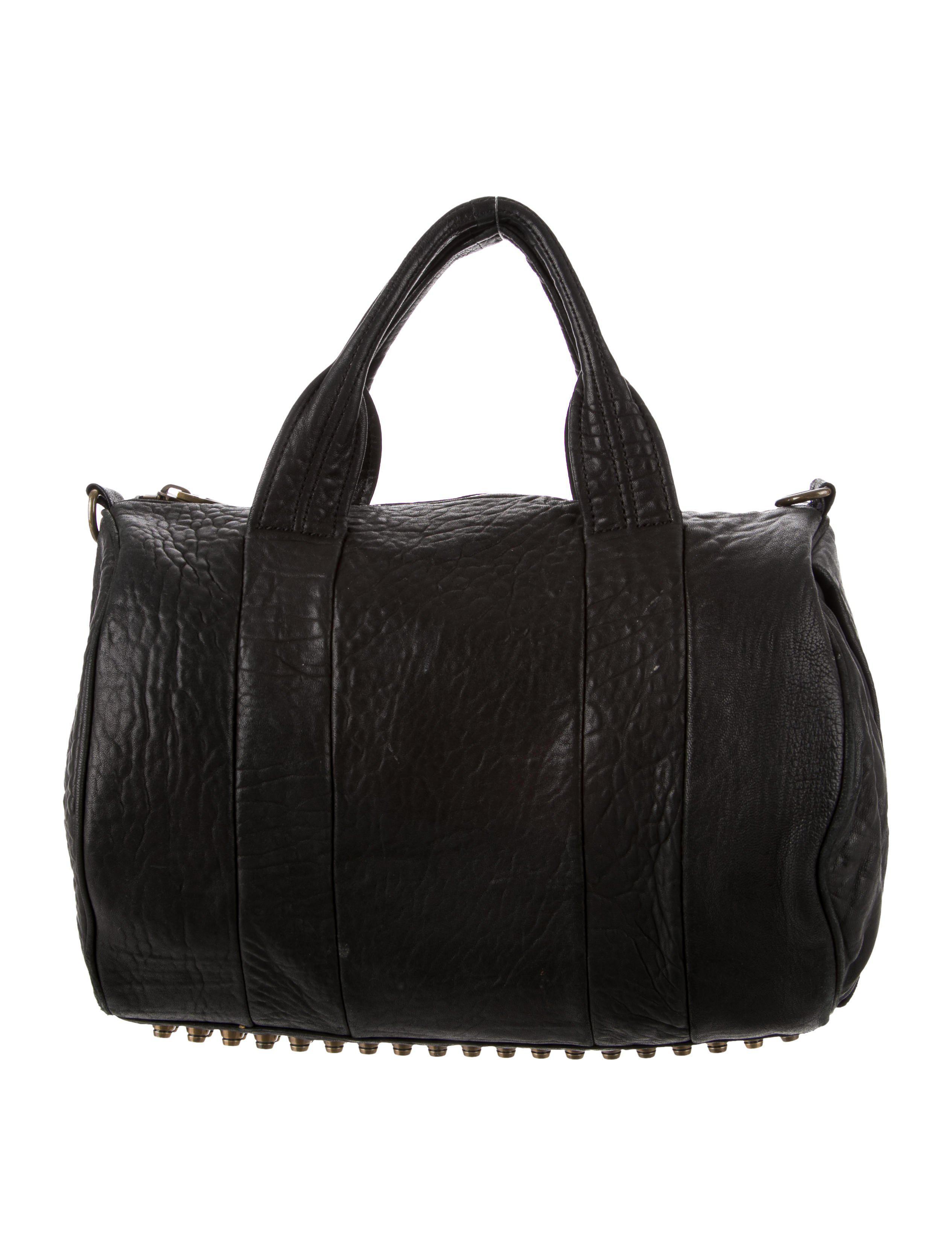 6777f62ecd10 Lyst - Alexander Wang Rocco Duffel Bag Black in Metallic