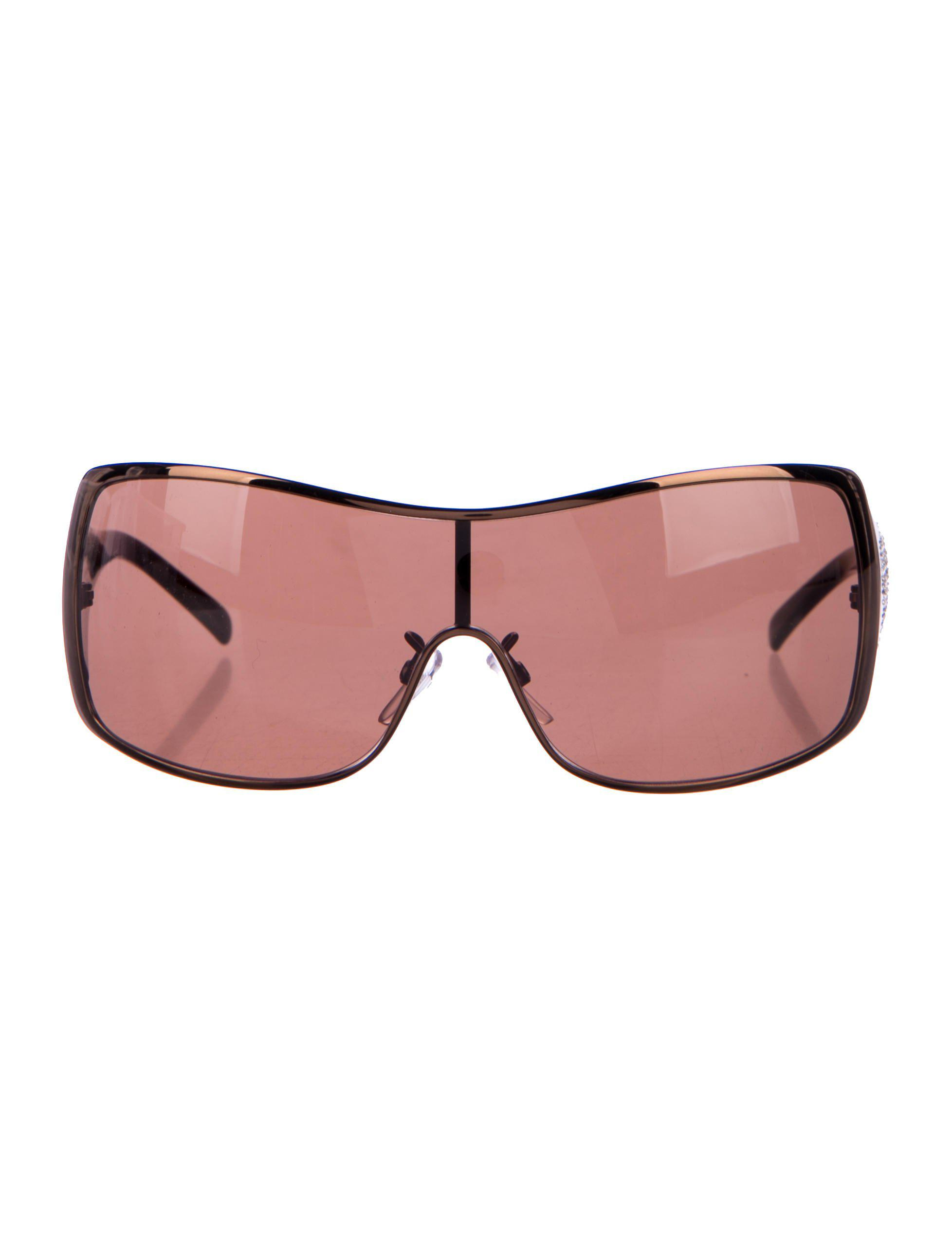 bb91843137 Lyst - Givenchy Tinted Shield Sunglasses in Brown