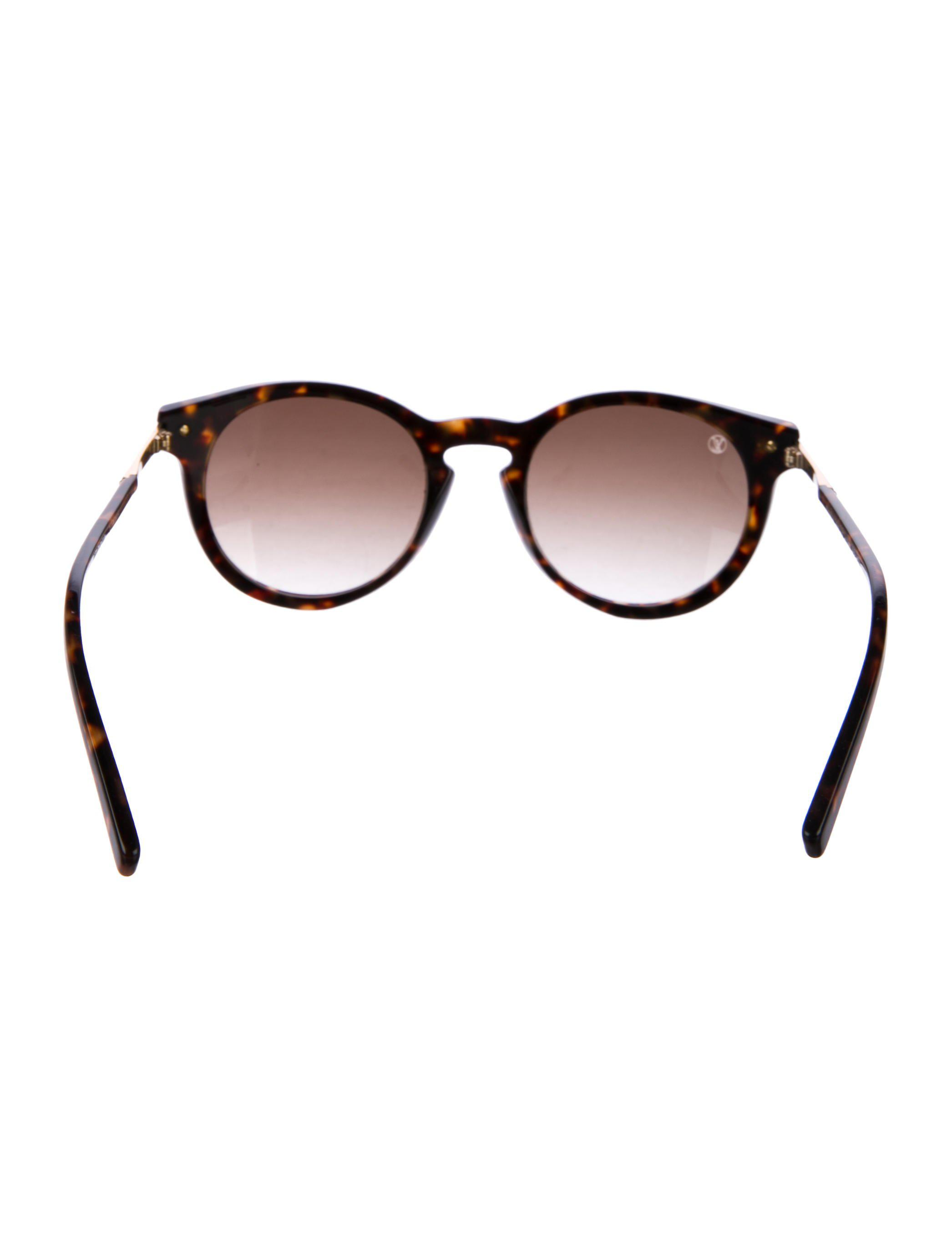 30a19648938 Lyst - Louis Vuitton Rosalie Tortoiseshell Sunglasses Gold in Metallic