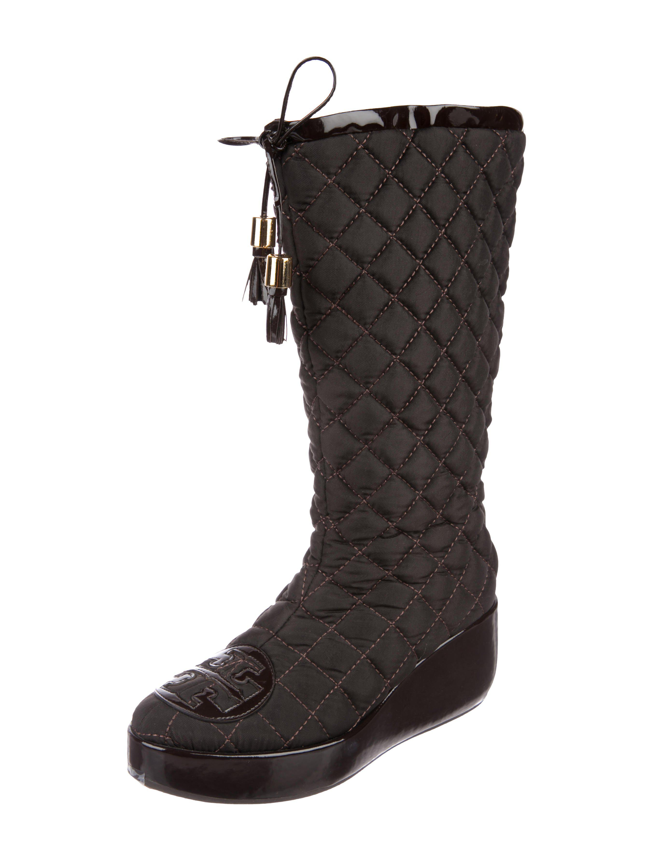 5518f8667a3 Tory Burch - Brown Gigi Quilted Boots - Lyst. View fullscreen