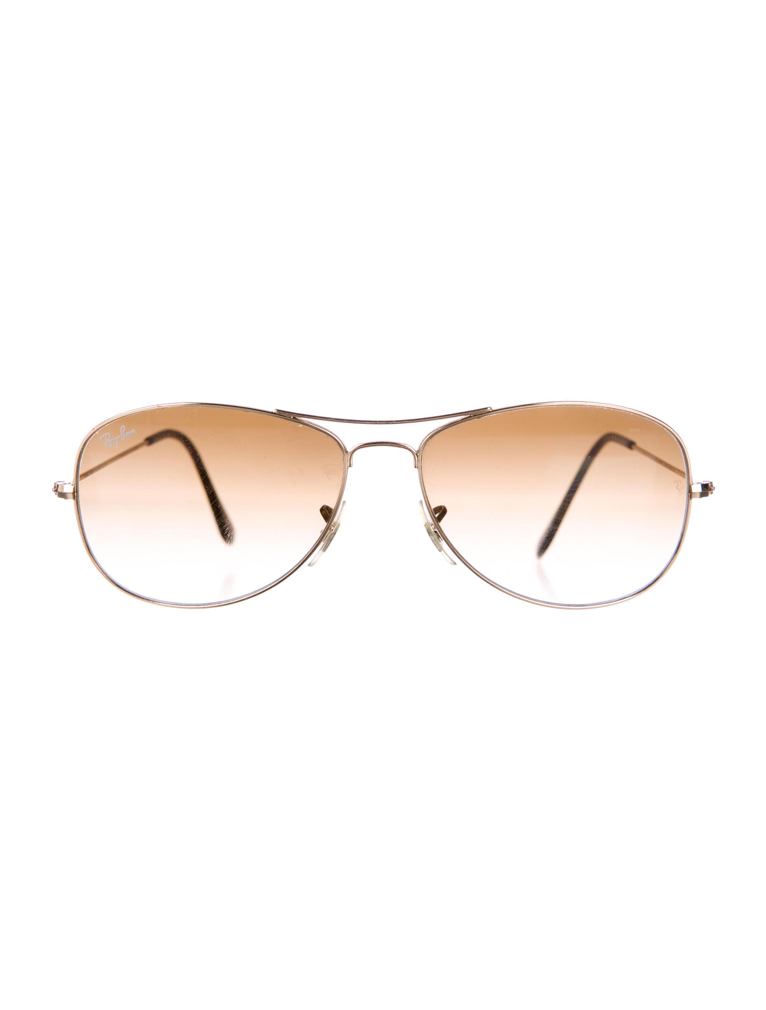 89366ce50b Lyst - Ray-Ban Cockpit Gradient Sunglasses Gold in Metallic