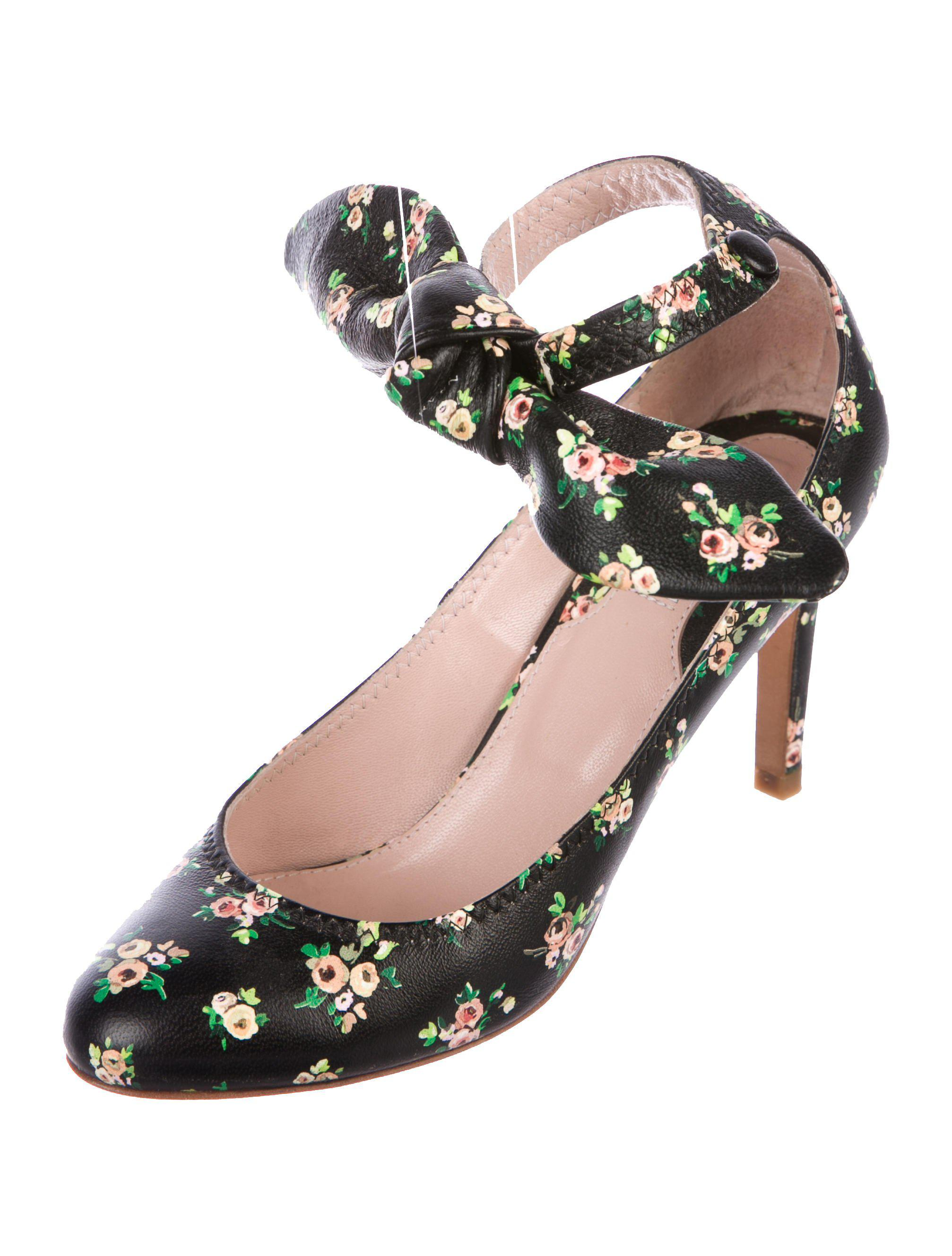 Carven Floral Leather Pumps buy cheap shopping online get to buy cheap price 7fGSZREyf