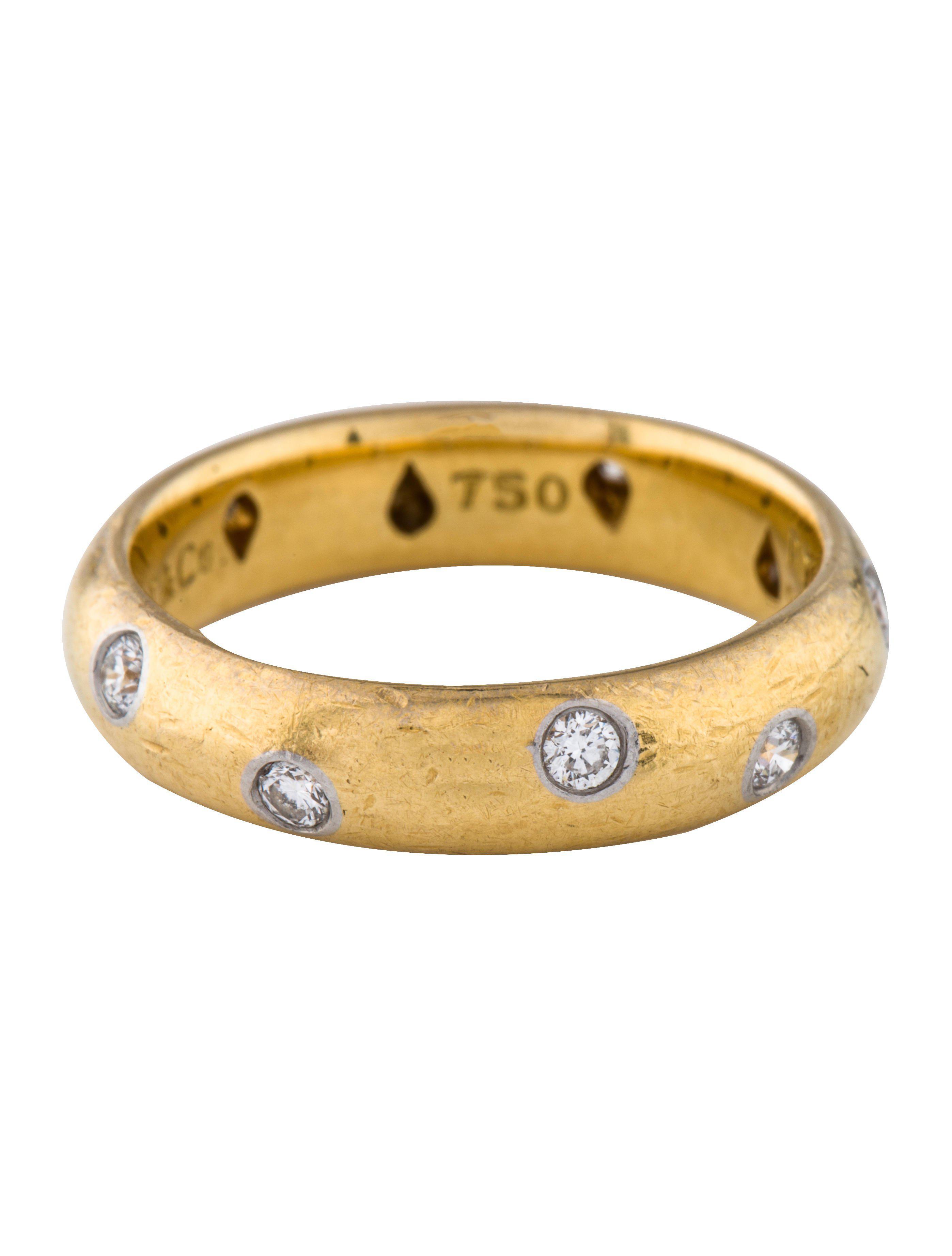 d71f921eae73 Lyst - Tiffany   Co Diamond Etoile Band Yellow in Metallic