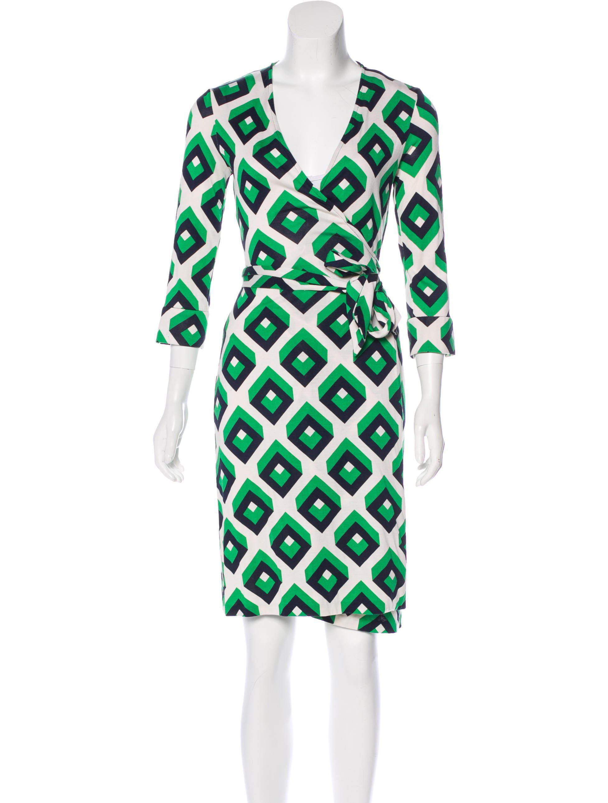 817186efebf8 Lyst - Diane Von Furstenberg Julian Wrap Dress in Green