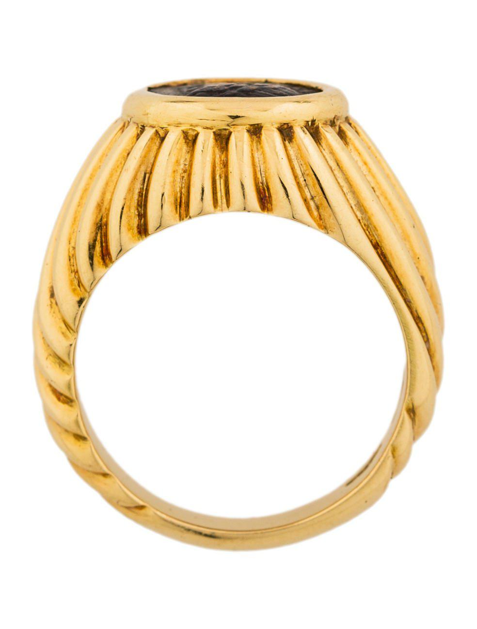 bvlgari metallic 18k monete coin ring yellow lyst view fullscreen