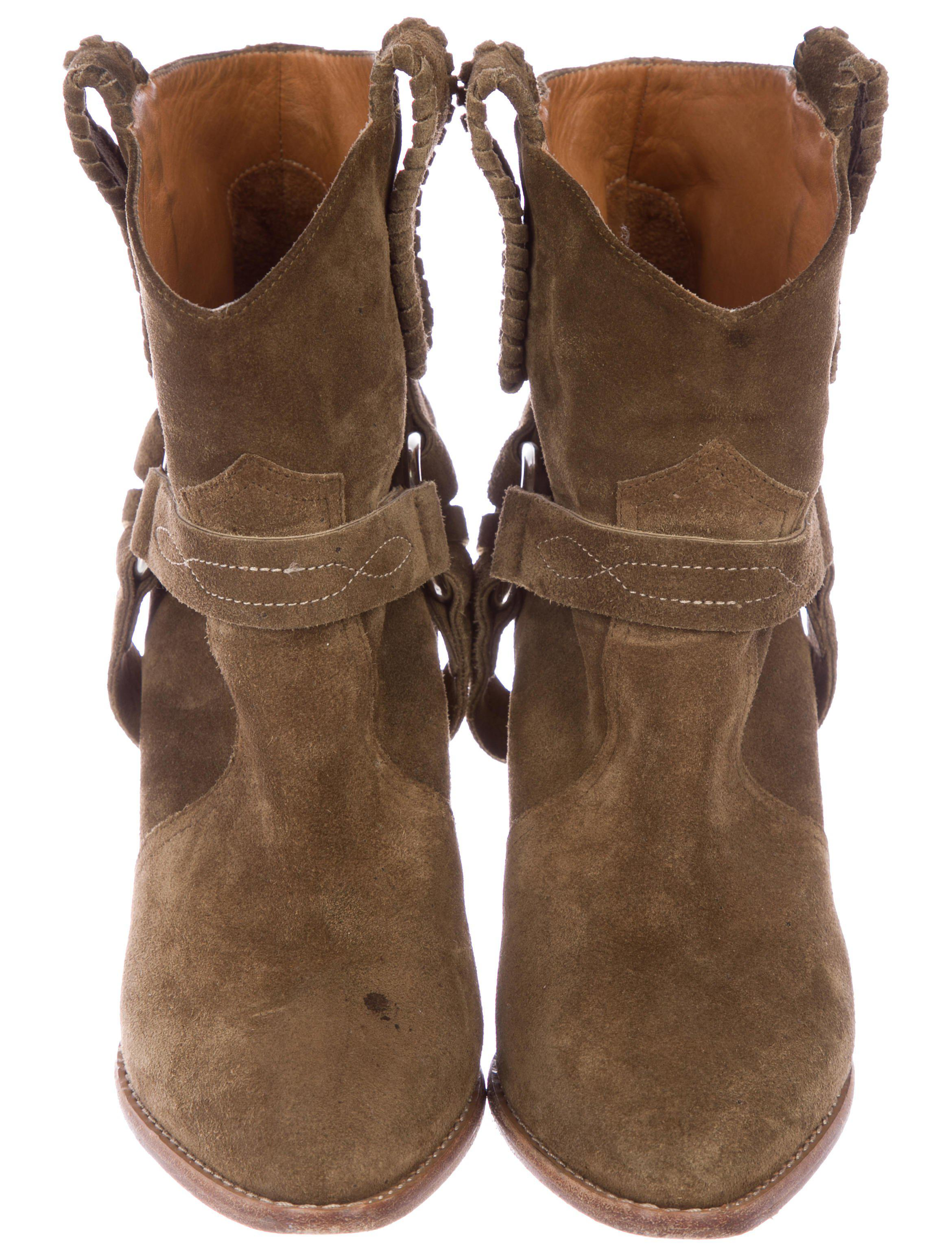 7f63d19a4a8 Lyst - Étoile Isabel Marant Suede Ankle Boots Brown in Metallic