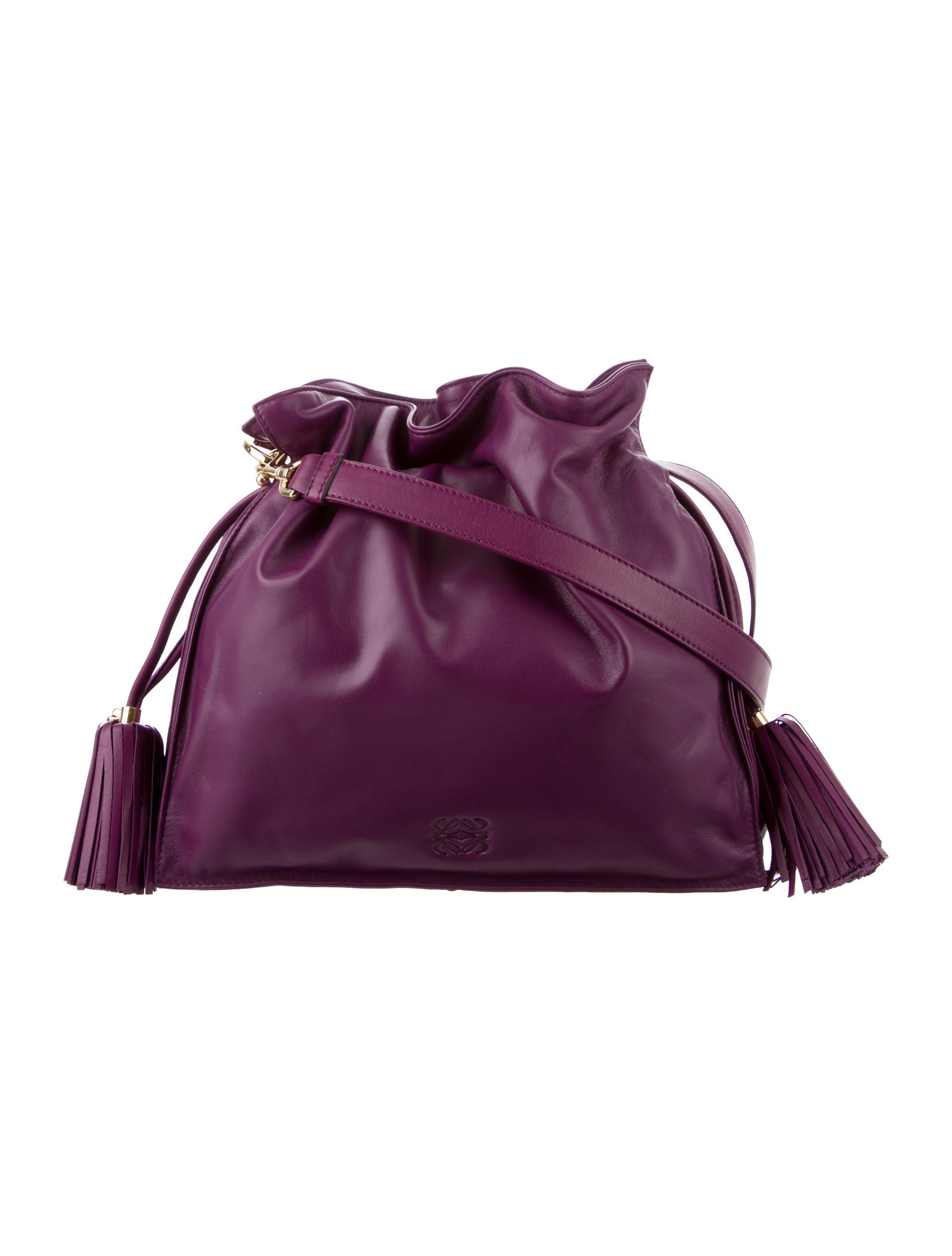 7ae7c04c7314 Loewe - Metallic Flamenco Shoulder Bag Purple - Lyst. View fullscreen