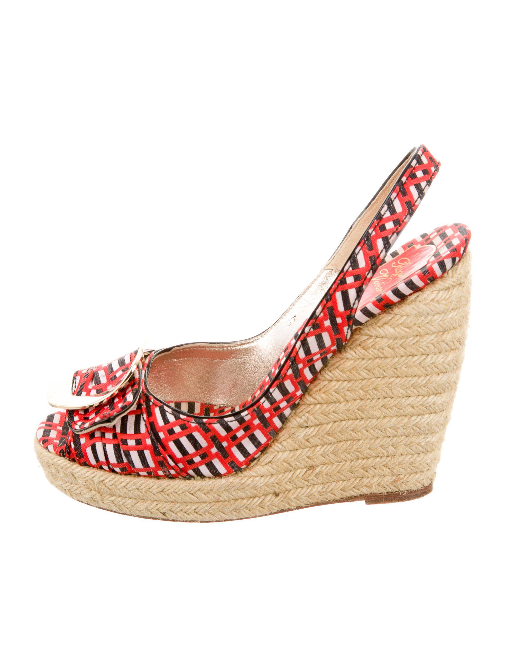 countdown package free shipping store Roger Vivier Suede Espadrille Wedges qwZkHSzs2