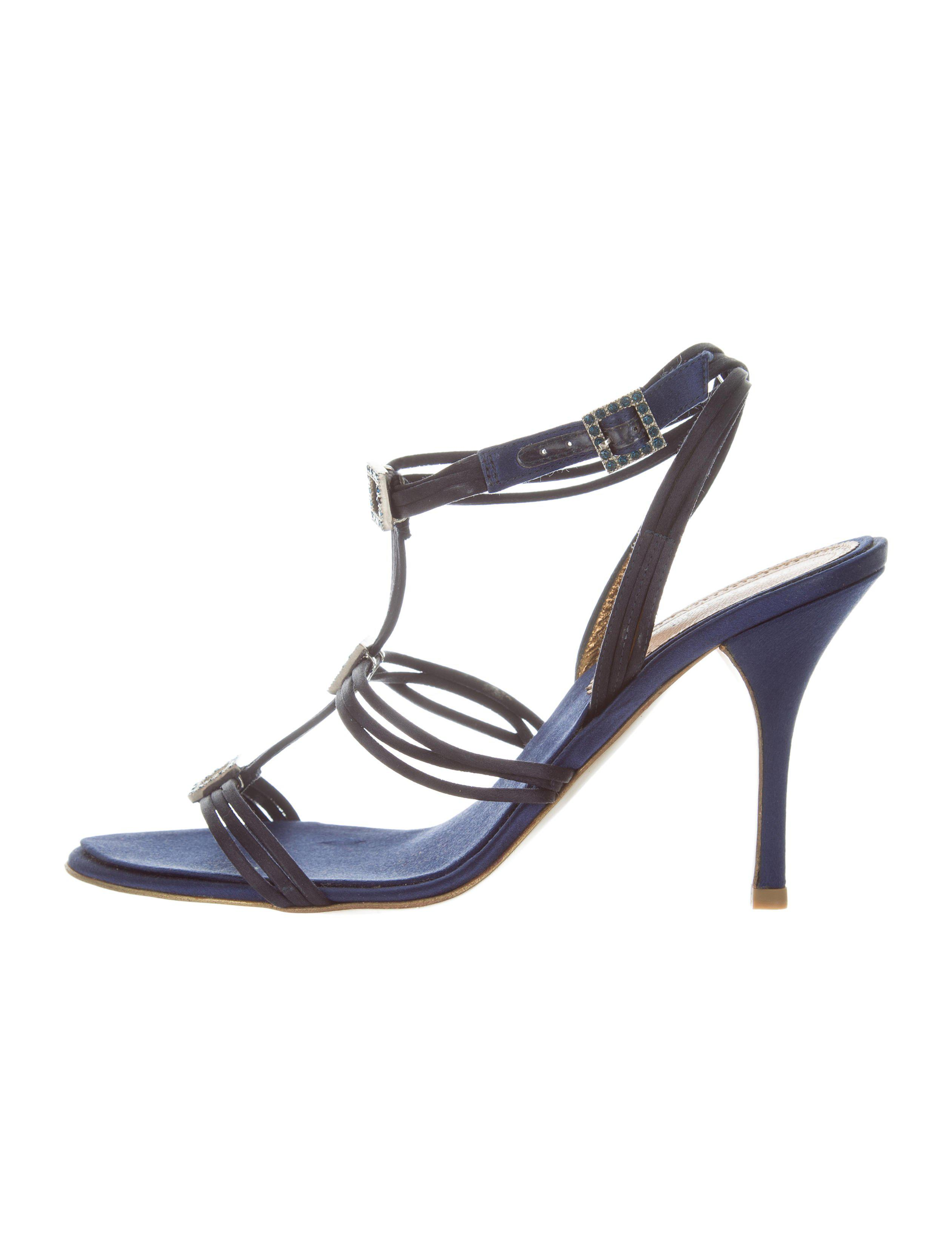 outlet excellent clearance visa payment Roberto Cavalli Satin Multistrap Sandals clearance fashionable professional for sale outlet locations sale online Ek2r7P
