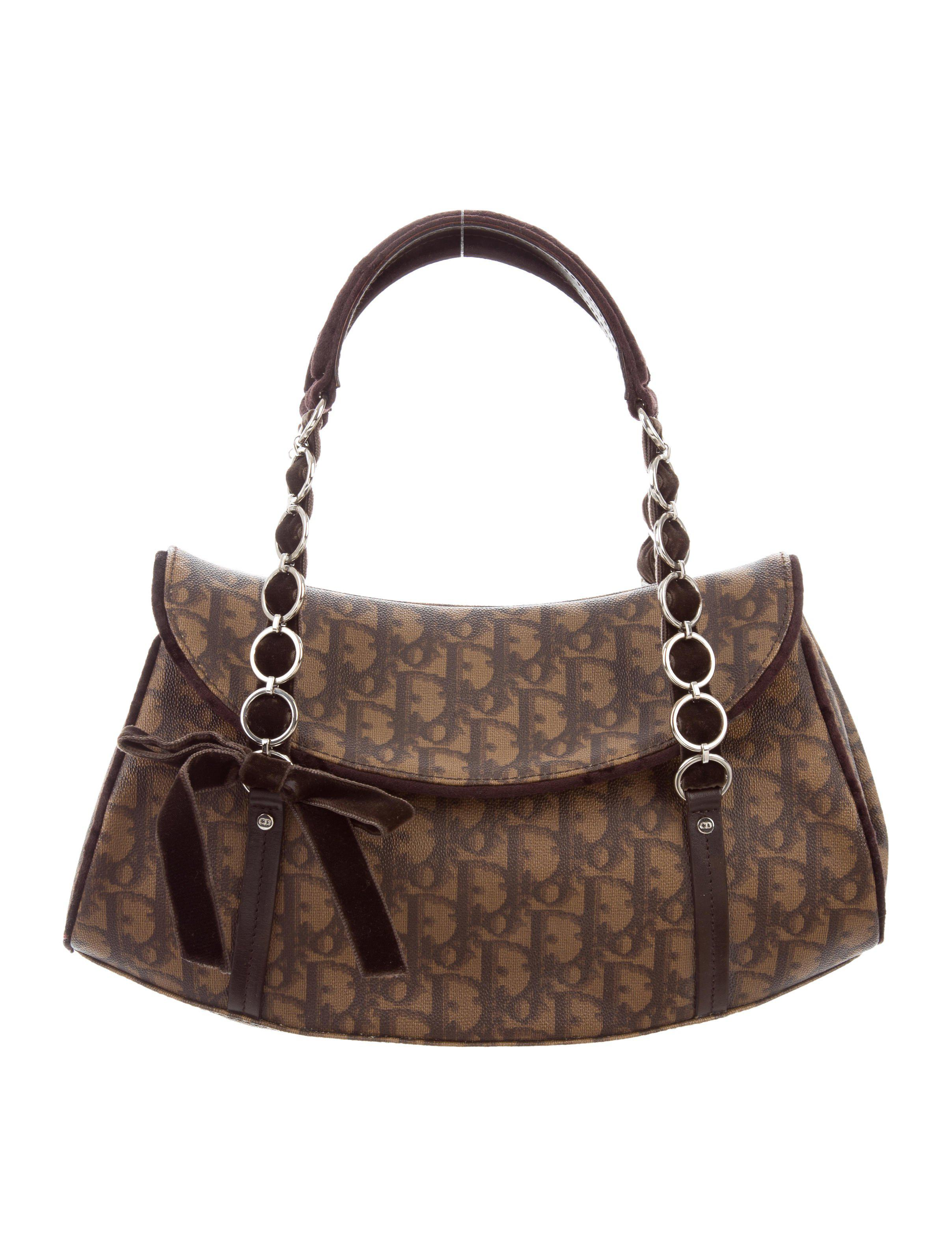 4135ad3f754f Lyst - Dior Diorissimo Handle Bag Brown in Metallic