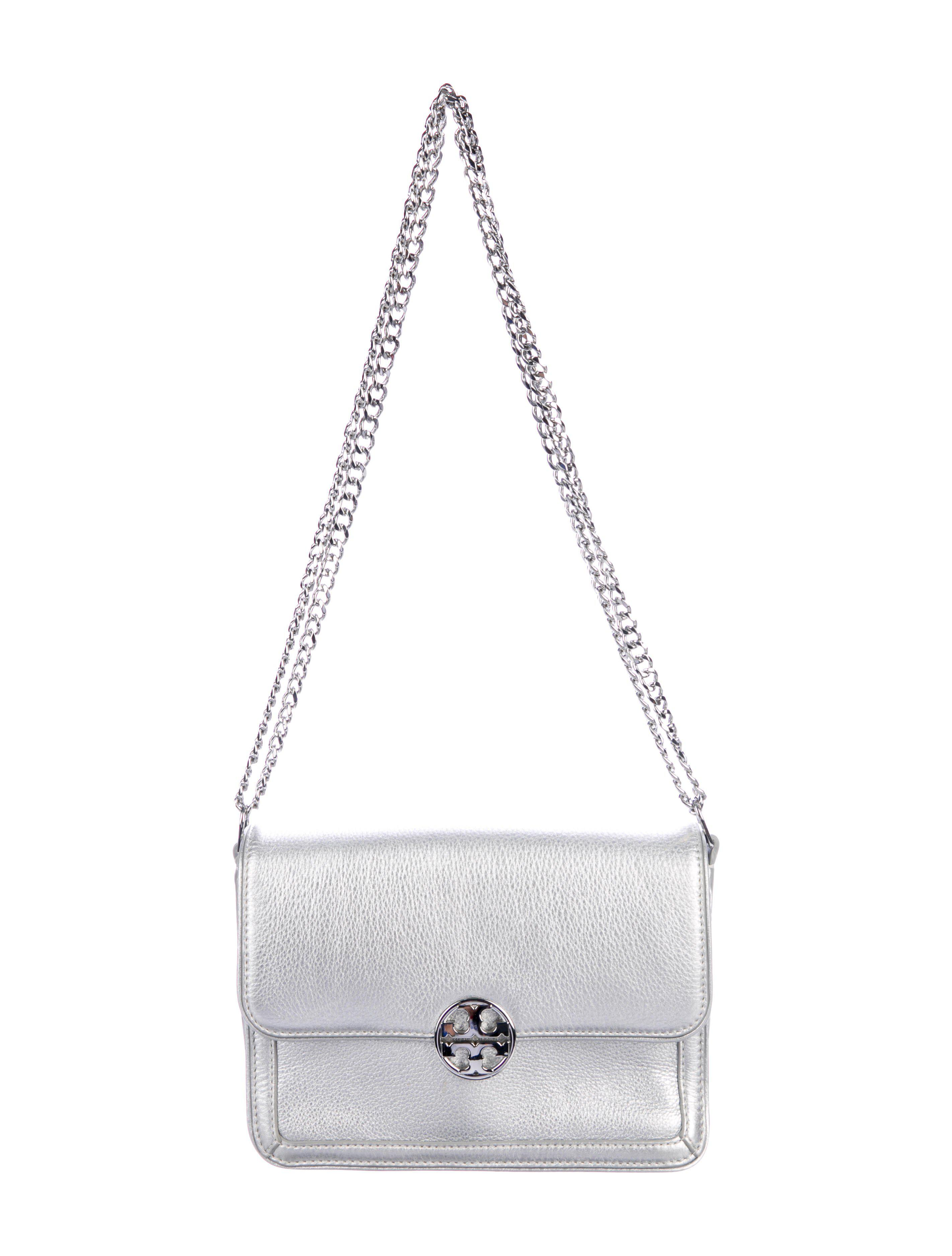 b867a4e41cb Lyst - Tory Burch Duel Chain Convertible Shoulder Bag in Metallic