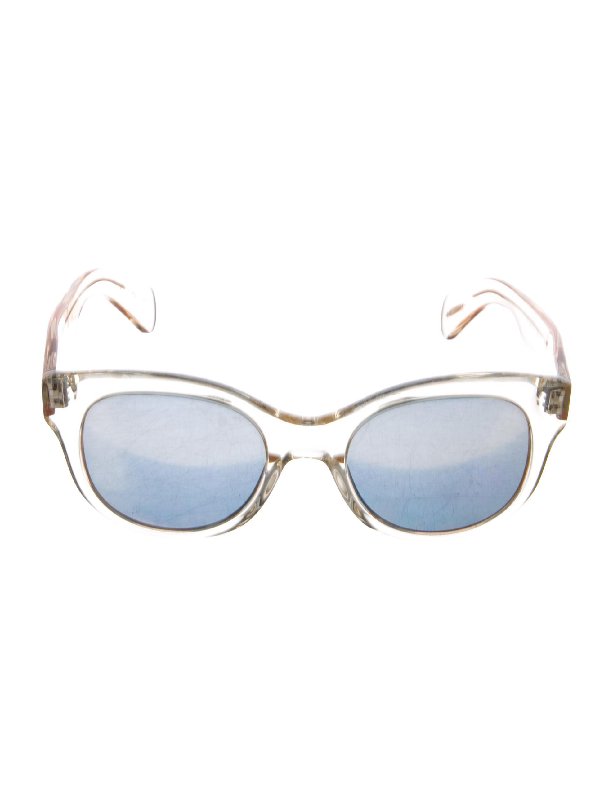 67f300cf83 Lyst - Oliver Peoples Jacey Mirrored Sunglasses Clear in Metallic