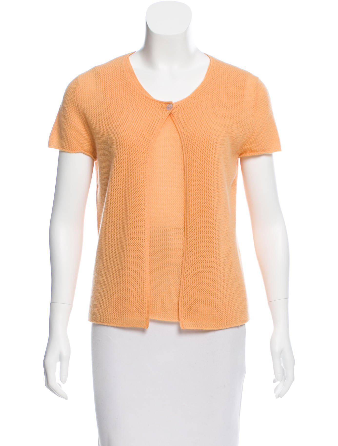Chanel Cashmere Sweater Set Orange in Orange | Lyst