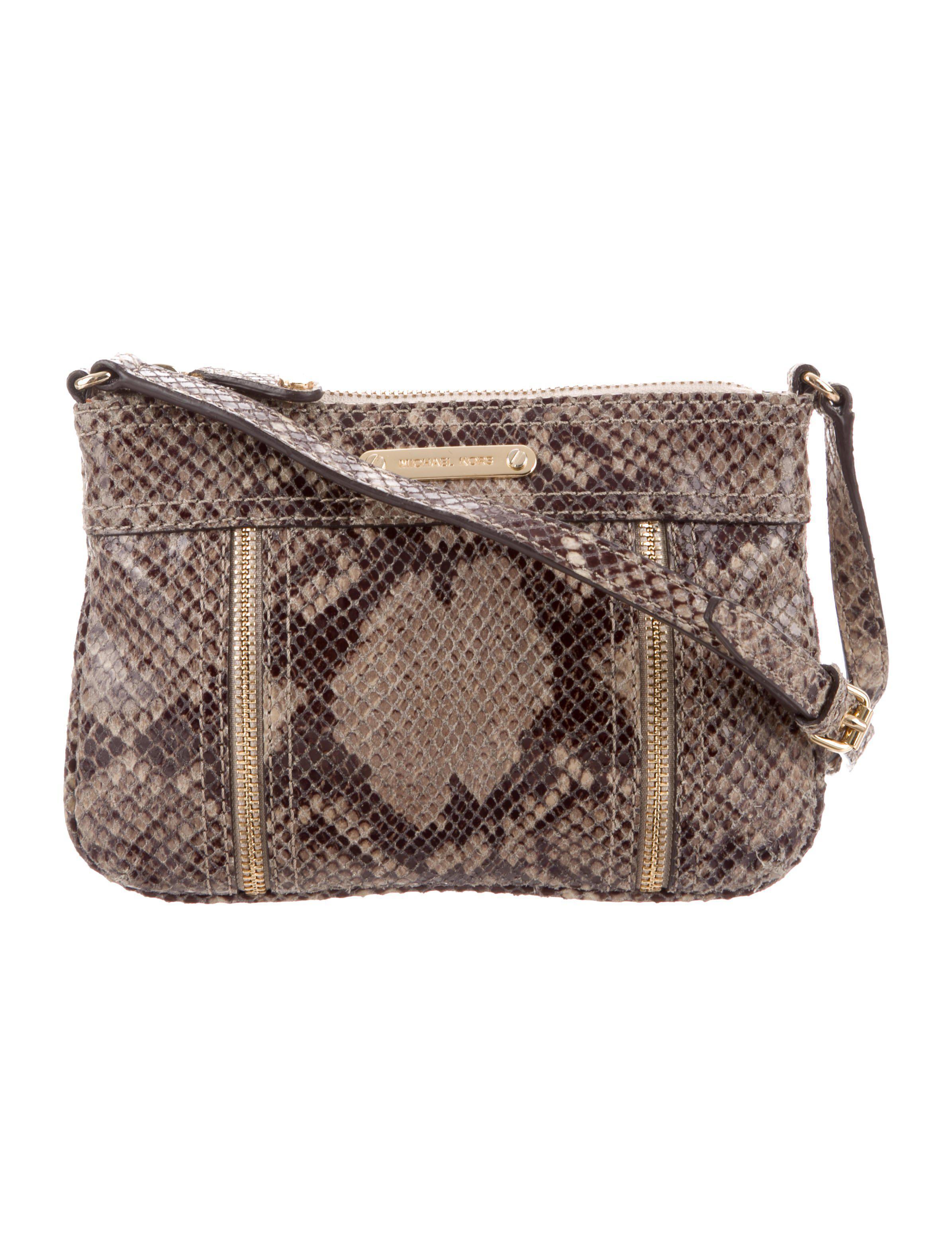 5893140f22fb MICHAEL Michael Kors. Women s Metallic Michael Kors Embossed Crossbody Bag  Beige
