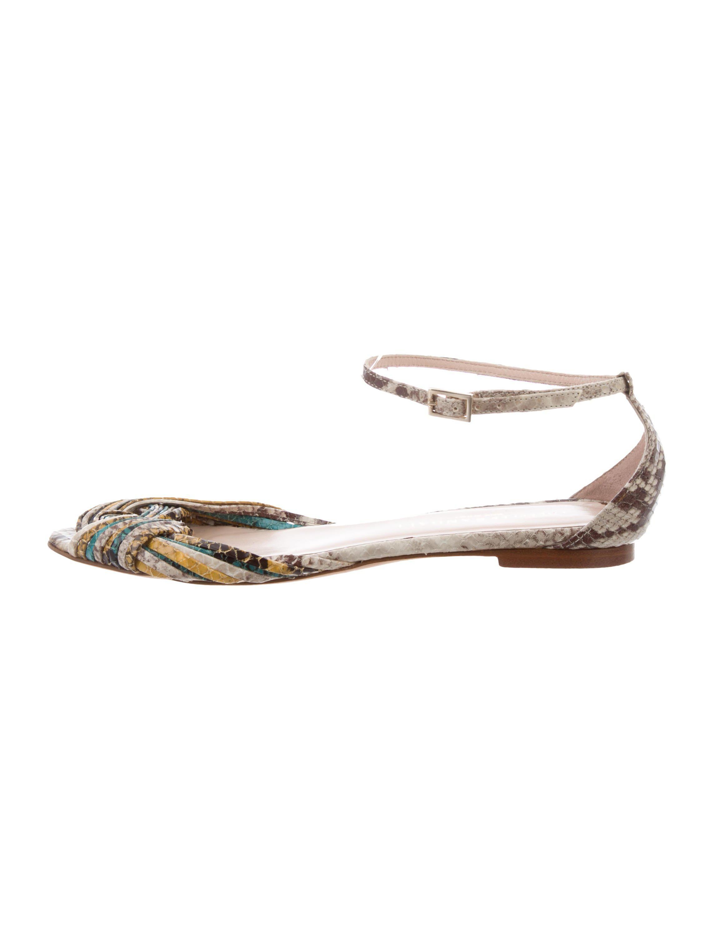 discount footlocker Loeffler Randall Twist-Accented Snakeskin Sandals sale limited edition Cheapest under $60 online from china sale online A48y92