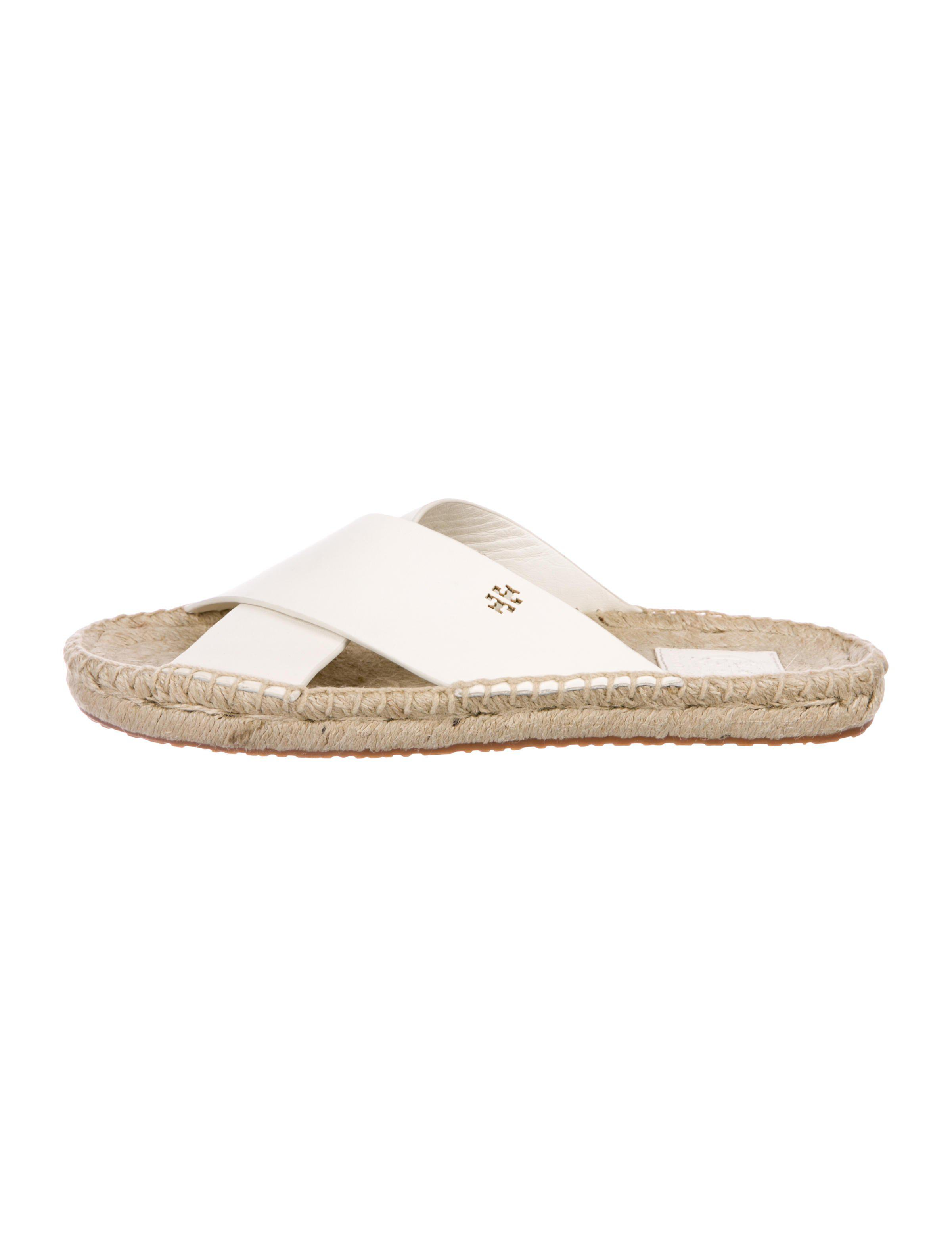 d40ef08a7a10 Lyst - Tory Burch Leather Espadrille Sandals in White