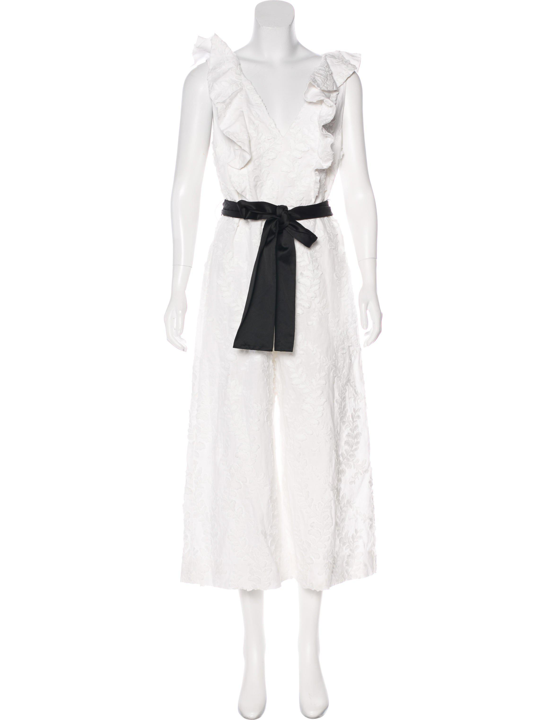 2c41ac77a6c Lyst - Zimmermann Winsom Embroidered Jumpsuit in White
