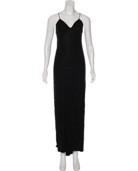 Lyst Lagence Metallic Maxi Dress In Black