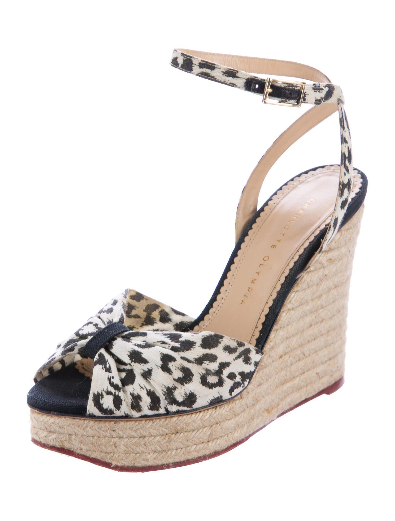 44de5d646ee Lyst - Charlotte Olympia Melody Espadrille Wedges in White