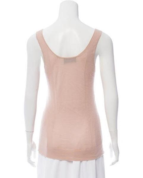 f130838eab0c8 Derek Lam - Pink Cashmere Sleeveless Top - Lyst. View fullscreen