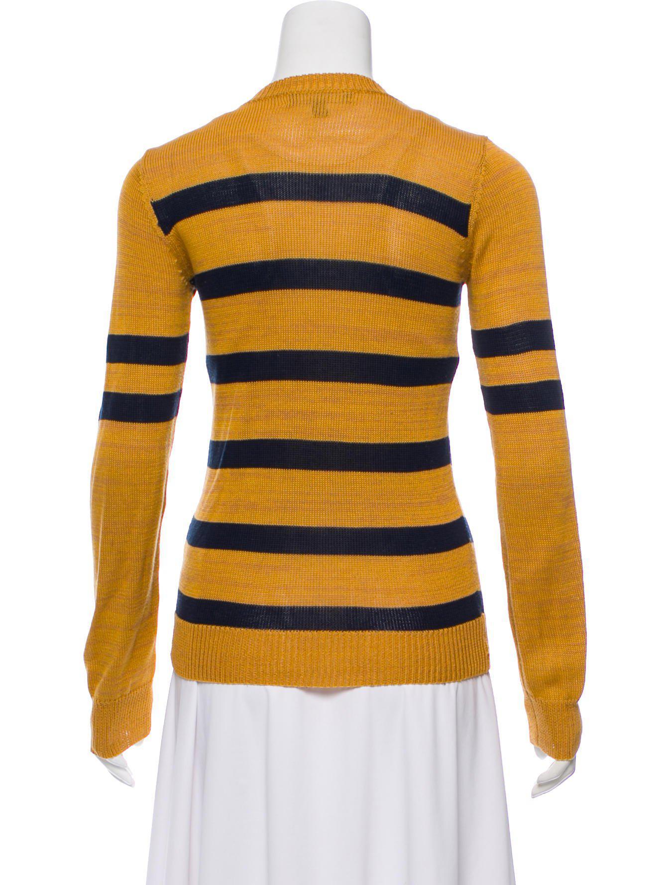 Suno Striped V-Neck Cardigan Cheap Sale Cost G33pAA9OBb