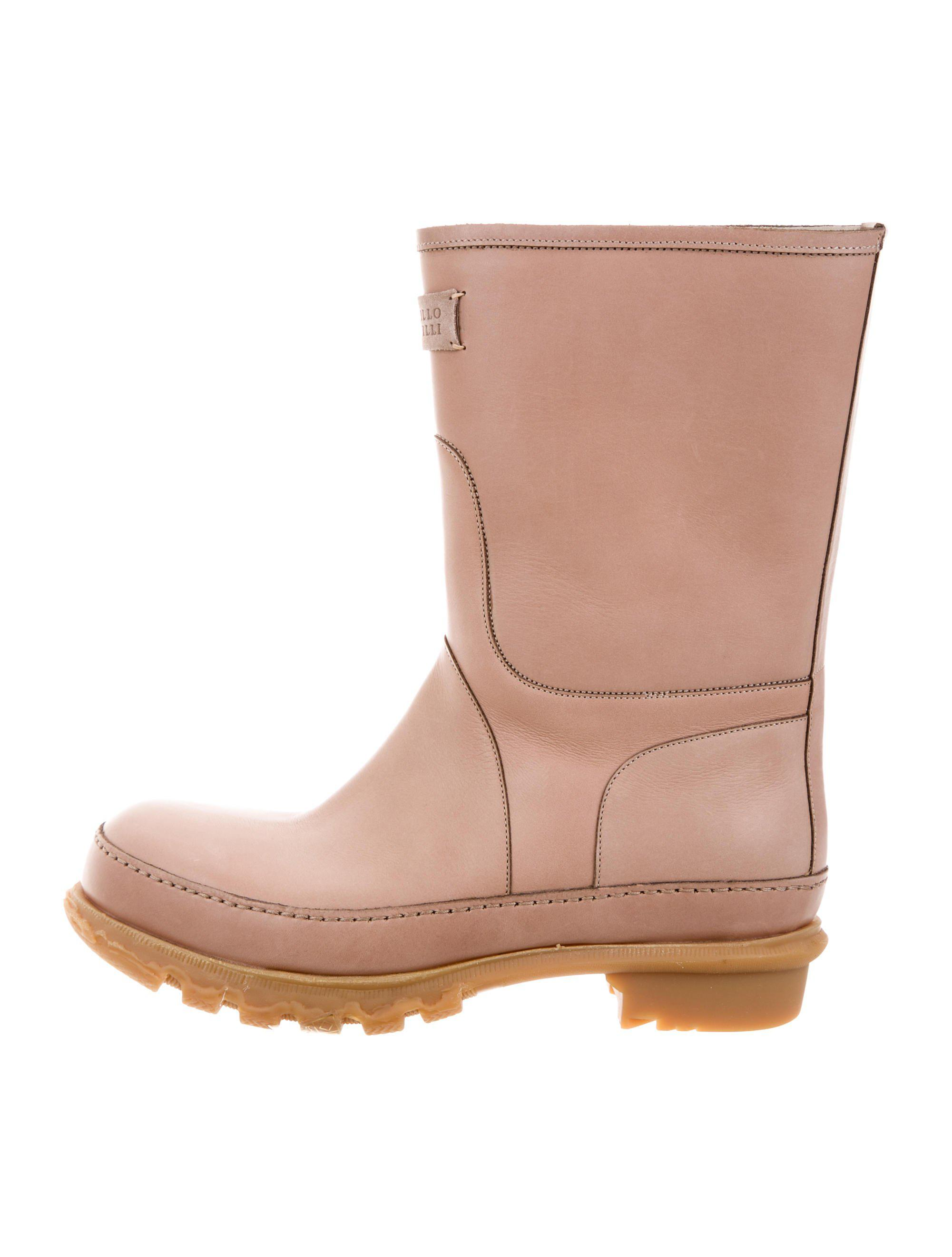 Brunello Cucinelli Leather Round-Toe Boots w/ Tags buy cheap for cheap sale shopping online clearance from china collections cheap online cheap best wholesale eVBWYn77a