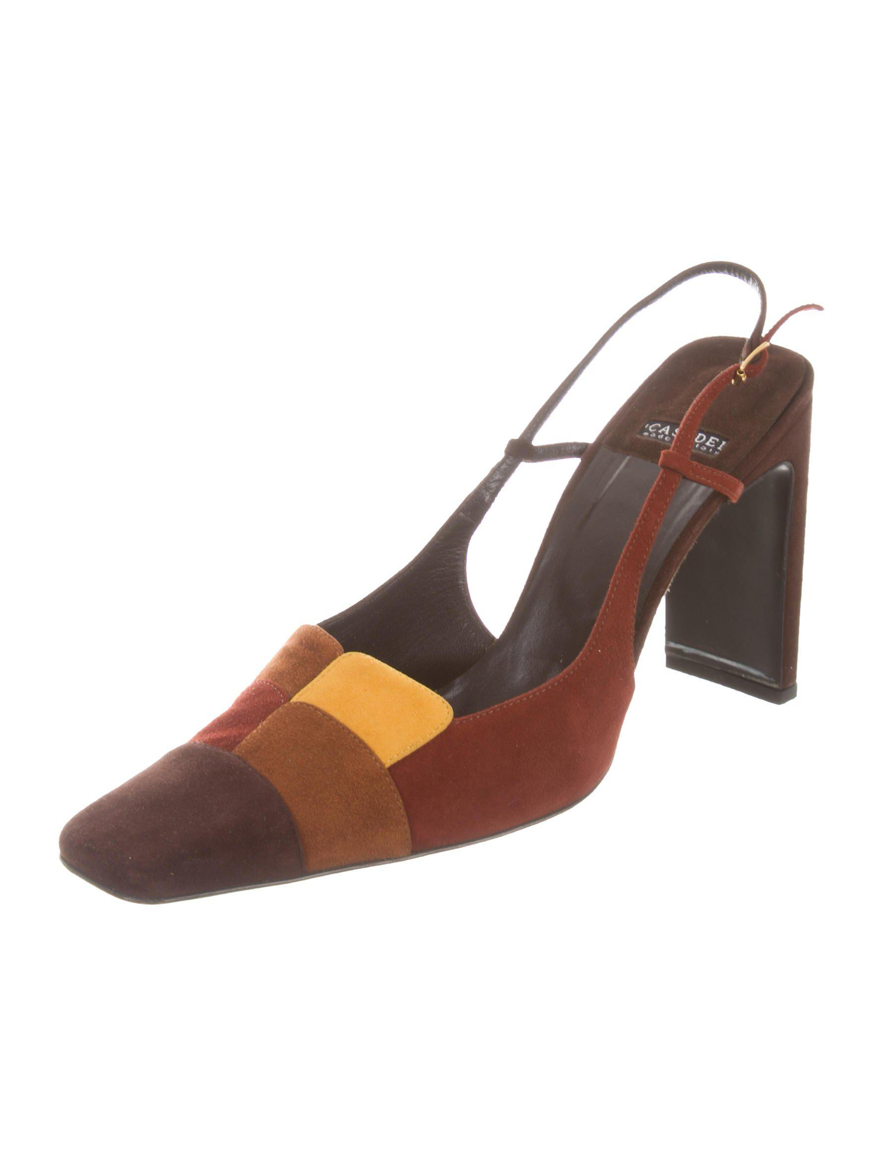 39d4182c940b Casadei Suede Slingback pumps marrone in Lyst OSdqPxwS
