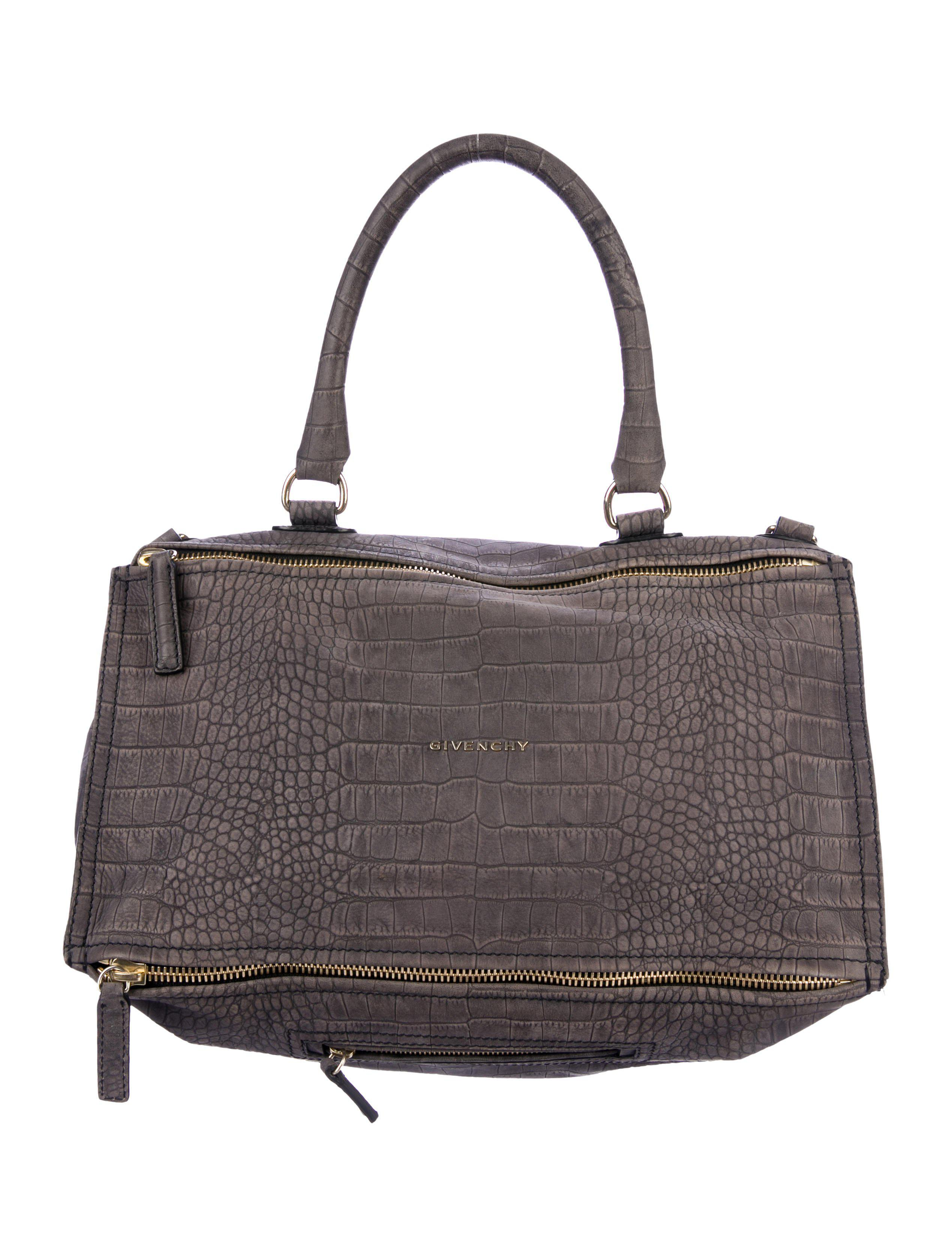 6c4e9cb4ba Lyst - Givenchy Embossed Large Pandora Satchel Gold in Metallic