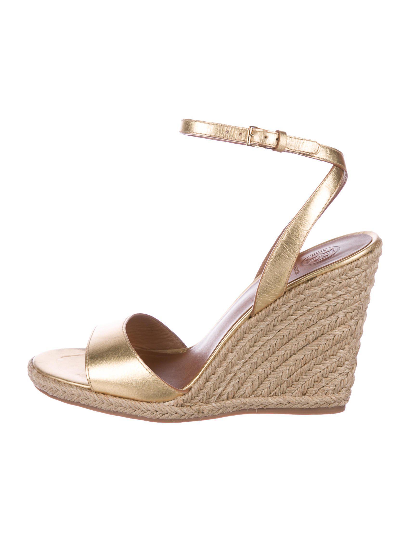 02fae213d Lyst - Tory Burch Cadmina Espadrille Sandals in Metallic