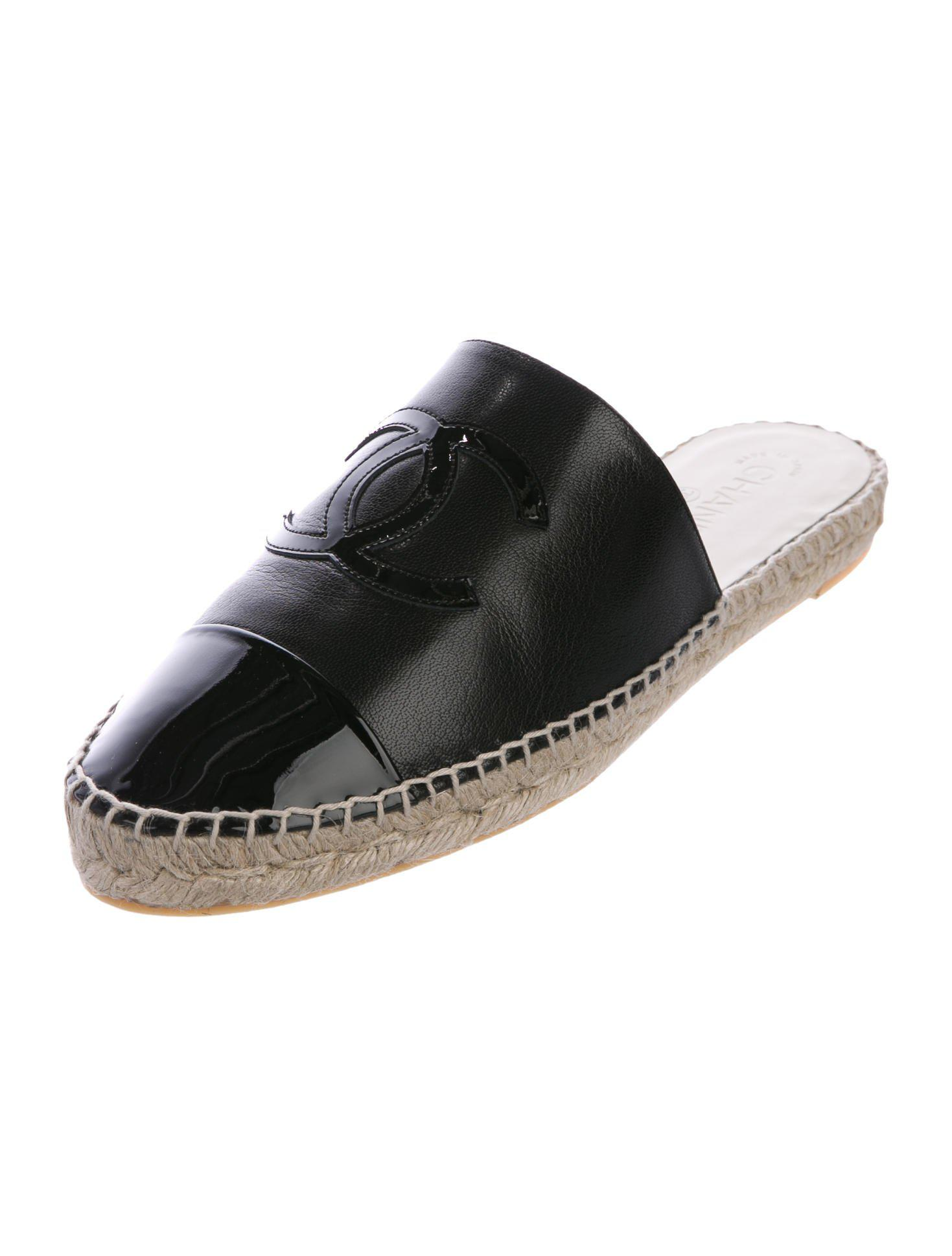 Lyst Chanel 2018 Cruise Espadrille Mules W Tags In Black