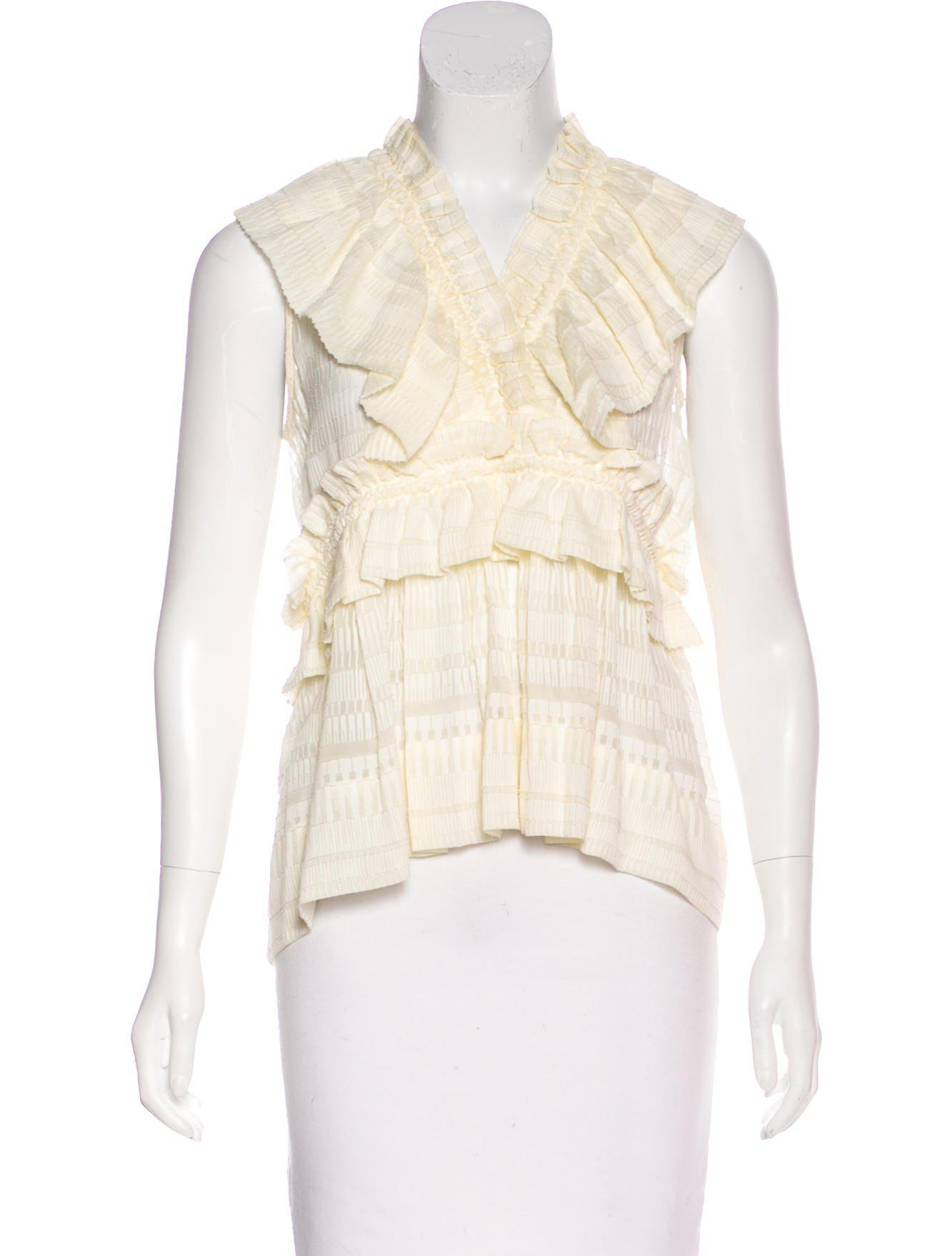 Best Price Iro Silk Pleated Top Clearance Online Amazon How Much Cheap Online UspV3