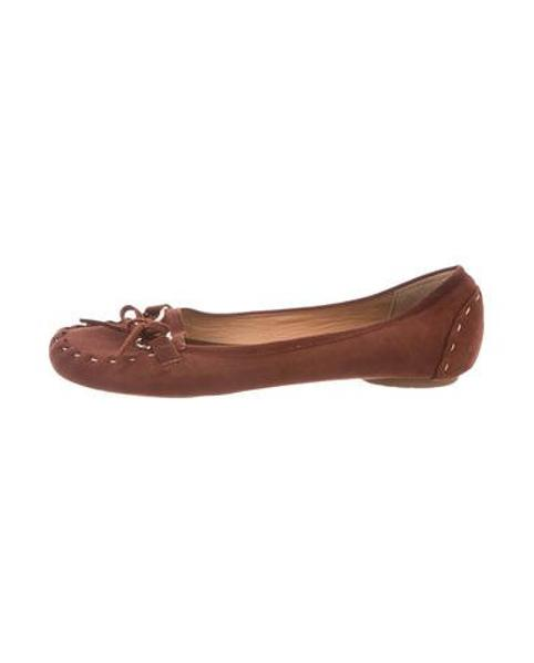 04234b63d86 Lyst - Kate Spade Suede Round-toe Loafers Brown in Metallic