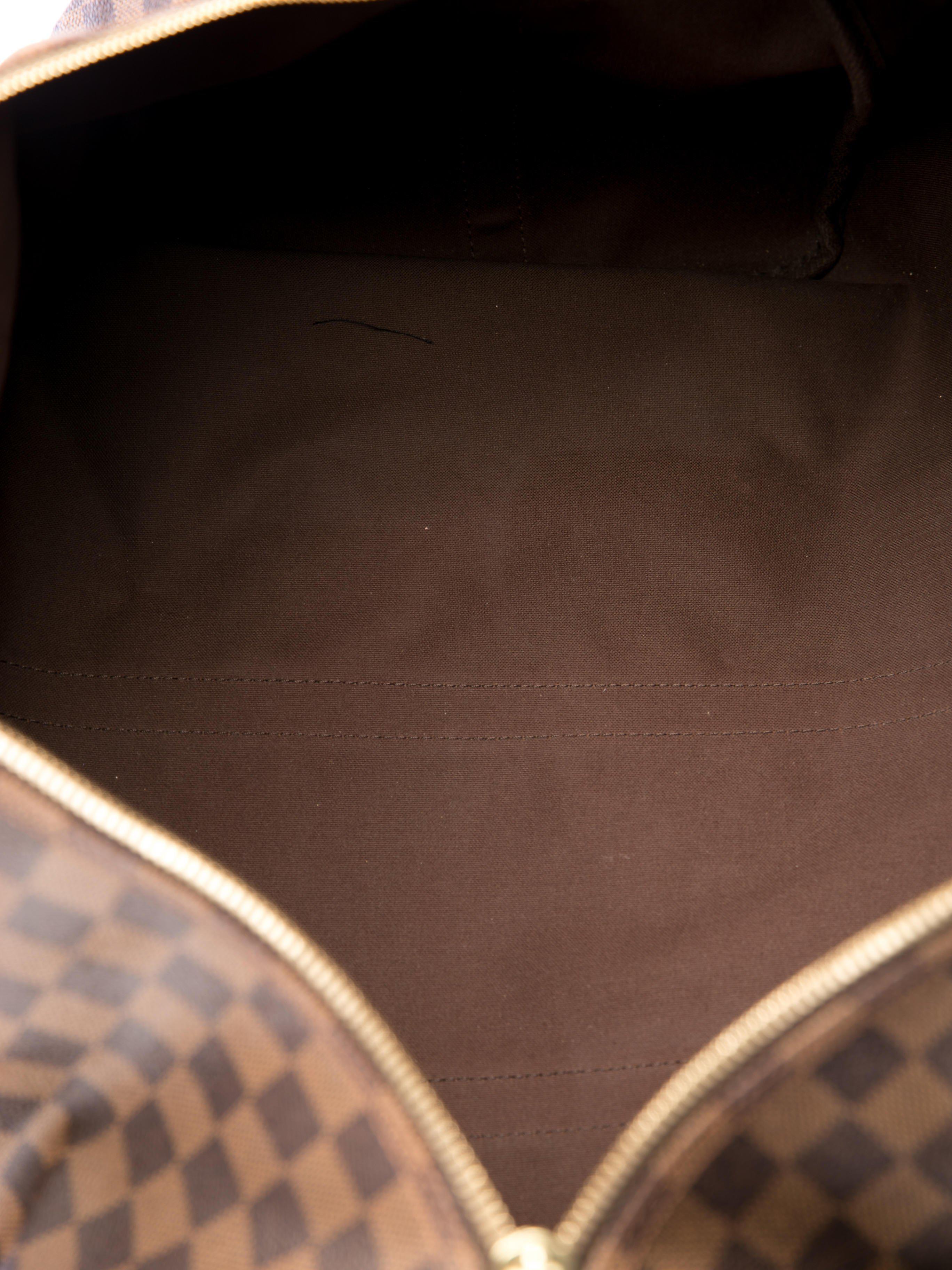 2f1c1709c0aa Louis Vuitton Damier Ebene Keepall 55 Duffle Bag