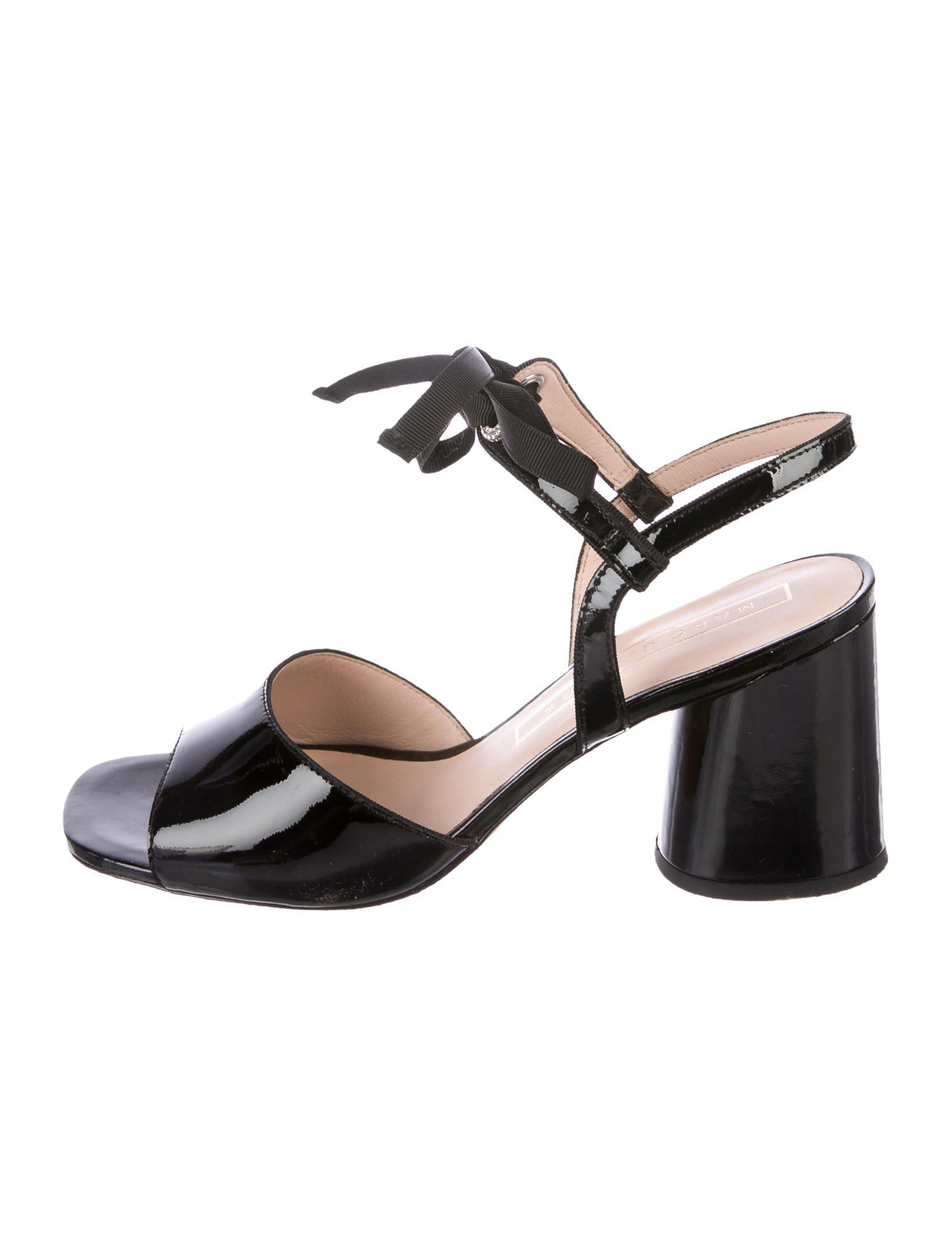 outlet visit discount limited edition Marc Jacobs Patent Leather Ankle Strap Sandals prices for sale clearance genuine Cfb6XCT17V