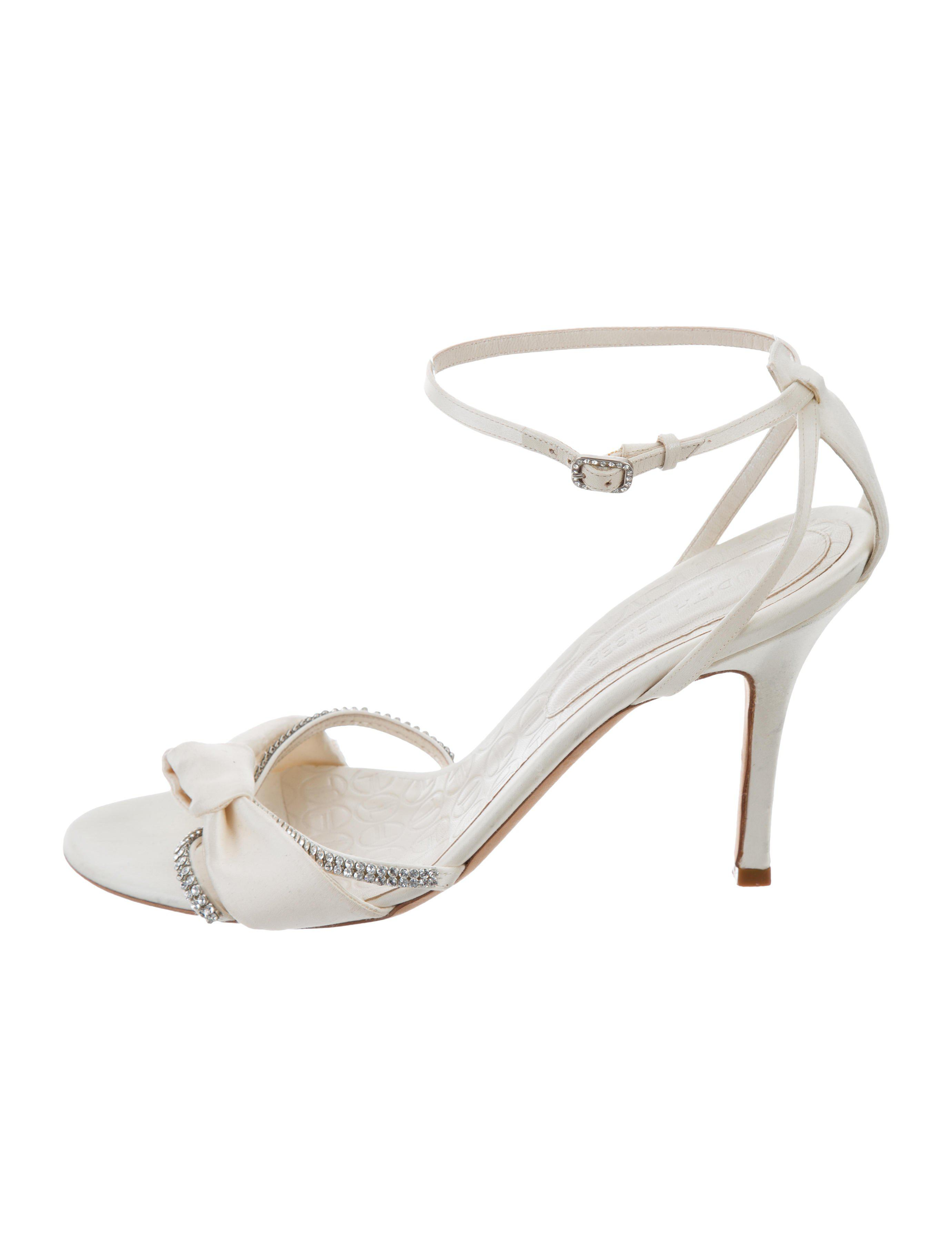 Judith Leiber Satin Jeweled Sandals buy cheap best sale discount fashionable clearance wide range of deals cheap price cheap newest ML06k
