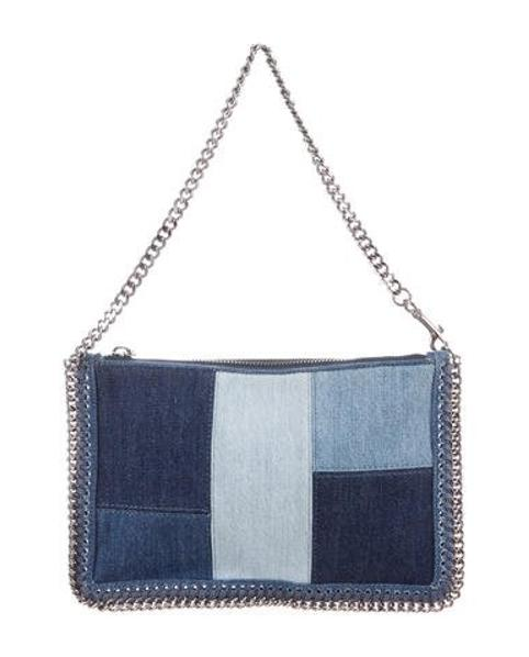 Lyst - Stella Mccartney Falabella Denim Shoulder Bag in Blue 1fcdaae2ba66c