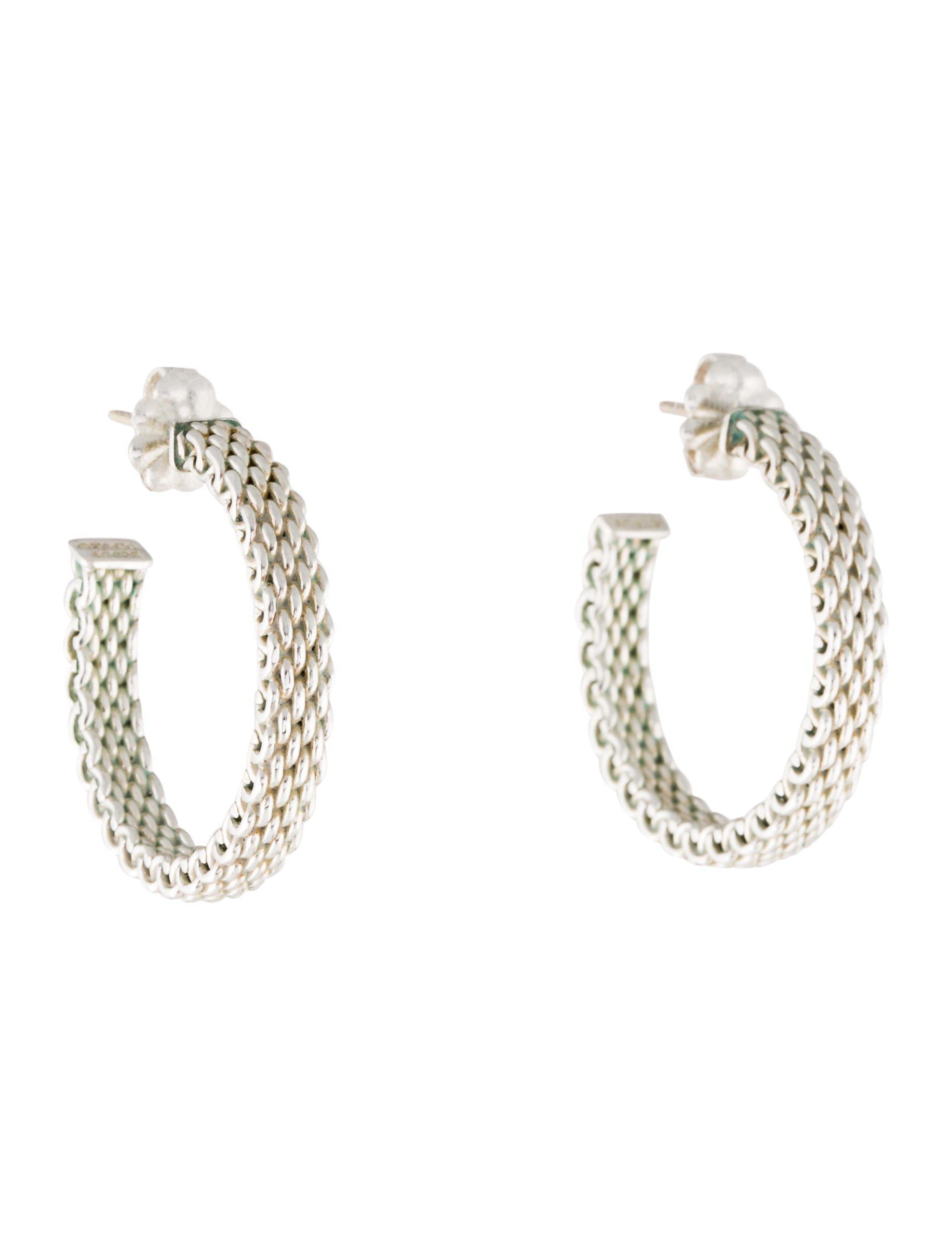 Tiffany Co Women S Metallic Somerset Hoop Earrings Silver