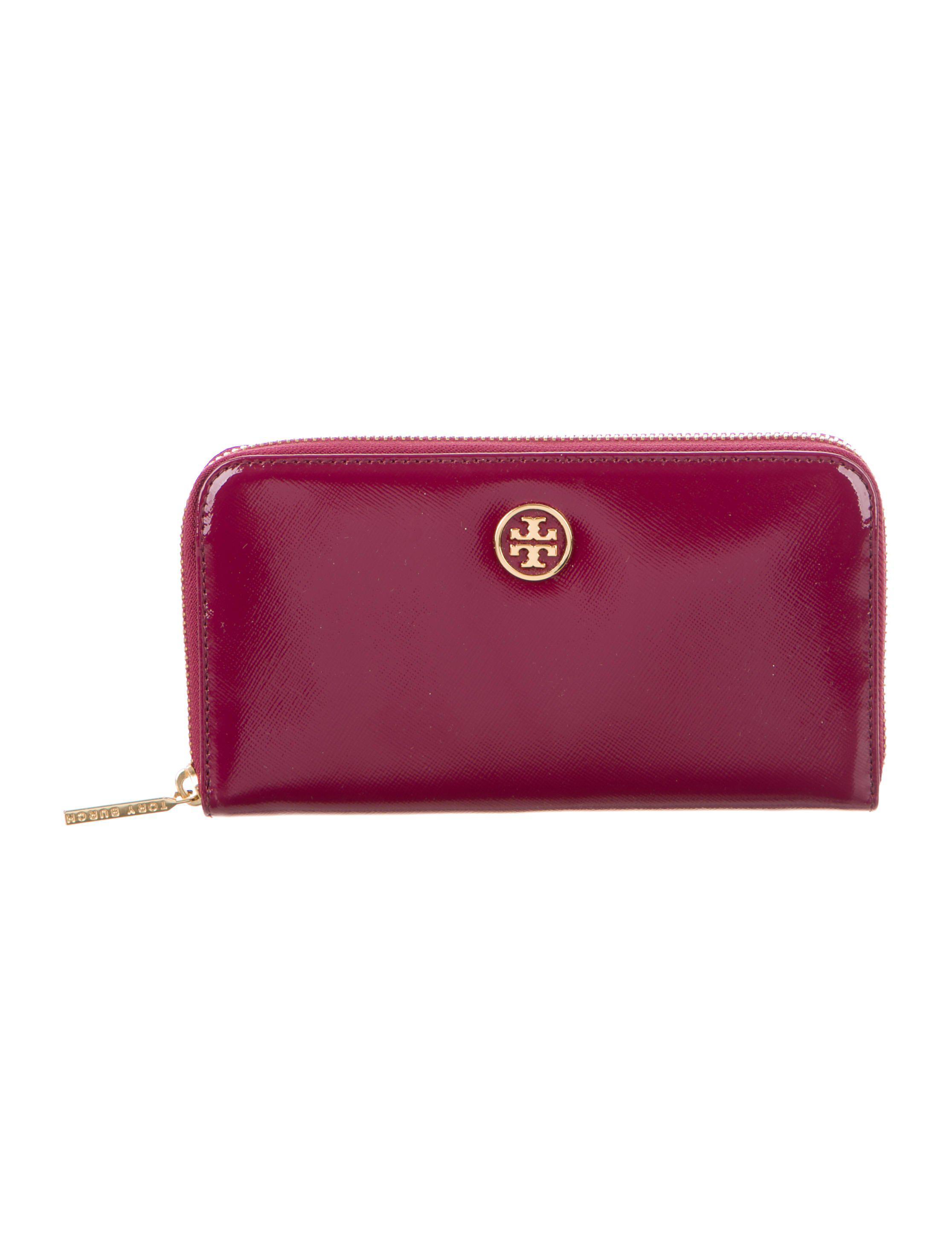 5163bdf3d1e Tory Burch. Women s Metallic Patent Leather Robinson Zip Continental Wallet  Gold