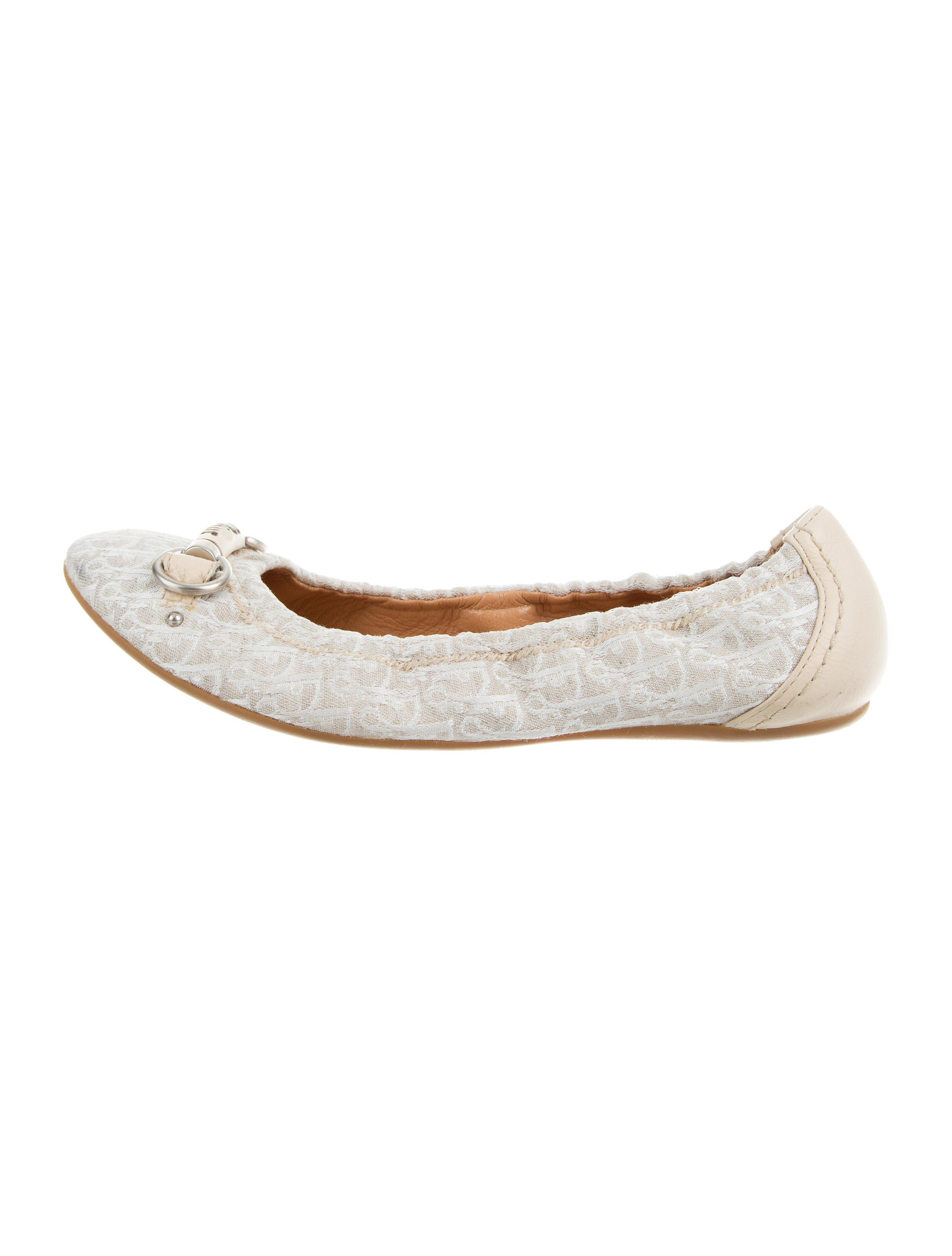 cheap price store prices Christian Dior Diorissimo Round-Toe Flats discount the cheapest browse sale online for cheap cheap online 8sqAHuz