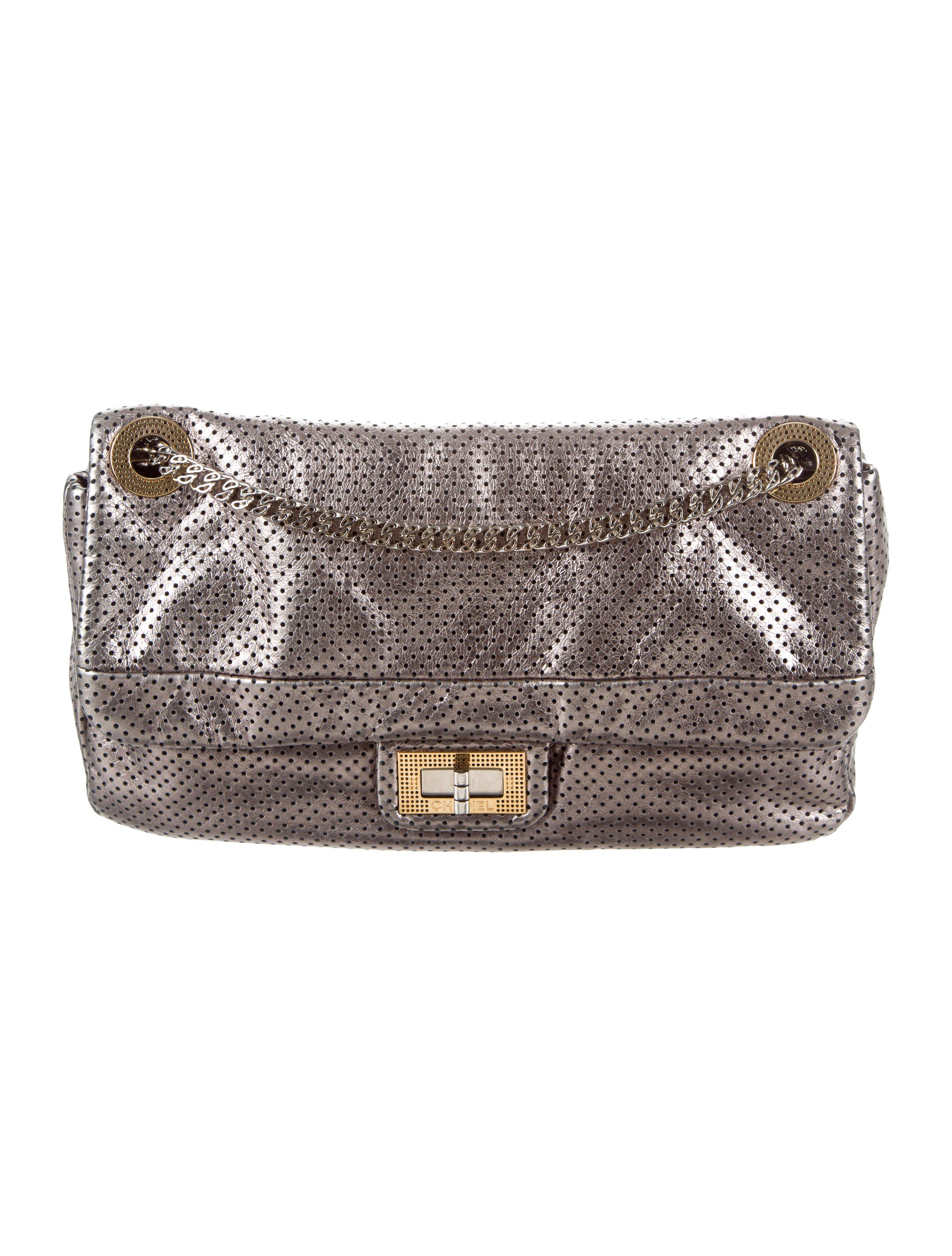 8fa2602a6aaf Lyst - Chanel Perforated Drill Flap Bag in Metallic