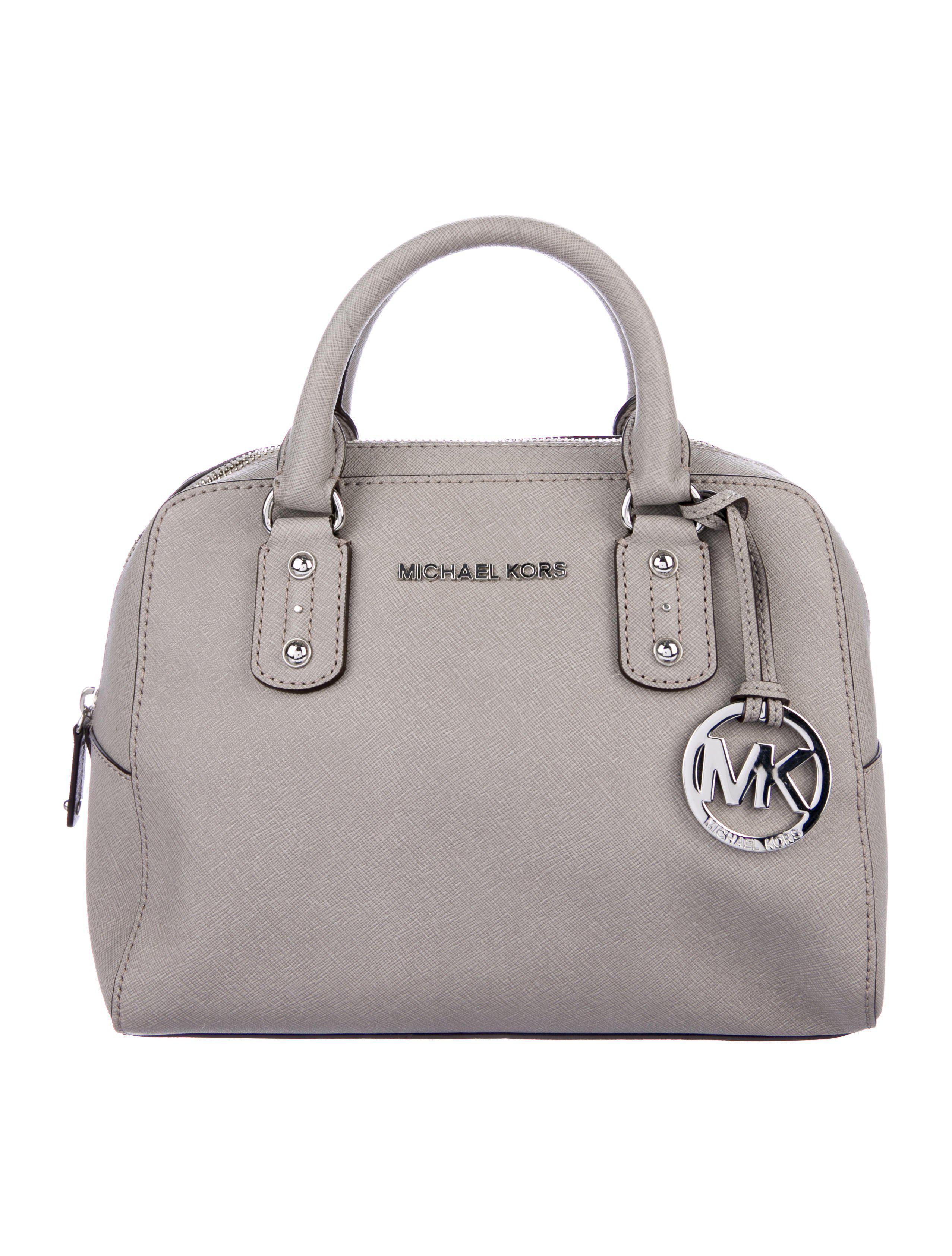 61cce3f164f9 MICHAEL Michael Kors. Women s Metallic Michael Kors Saffiano Leather Satchel  Grey