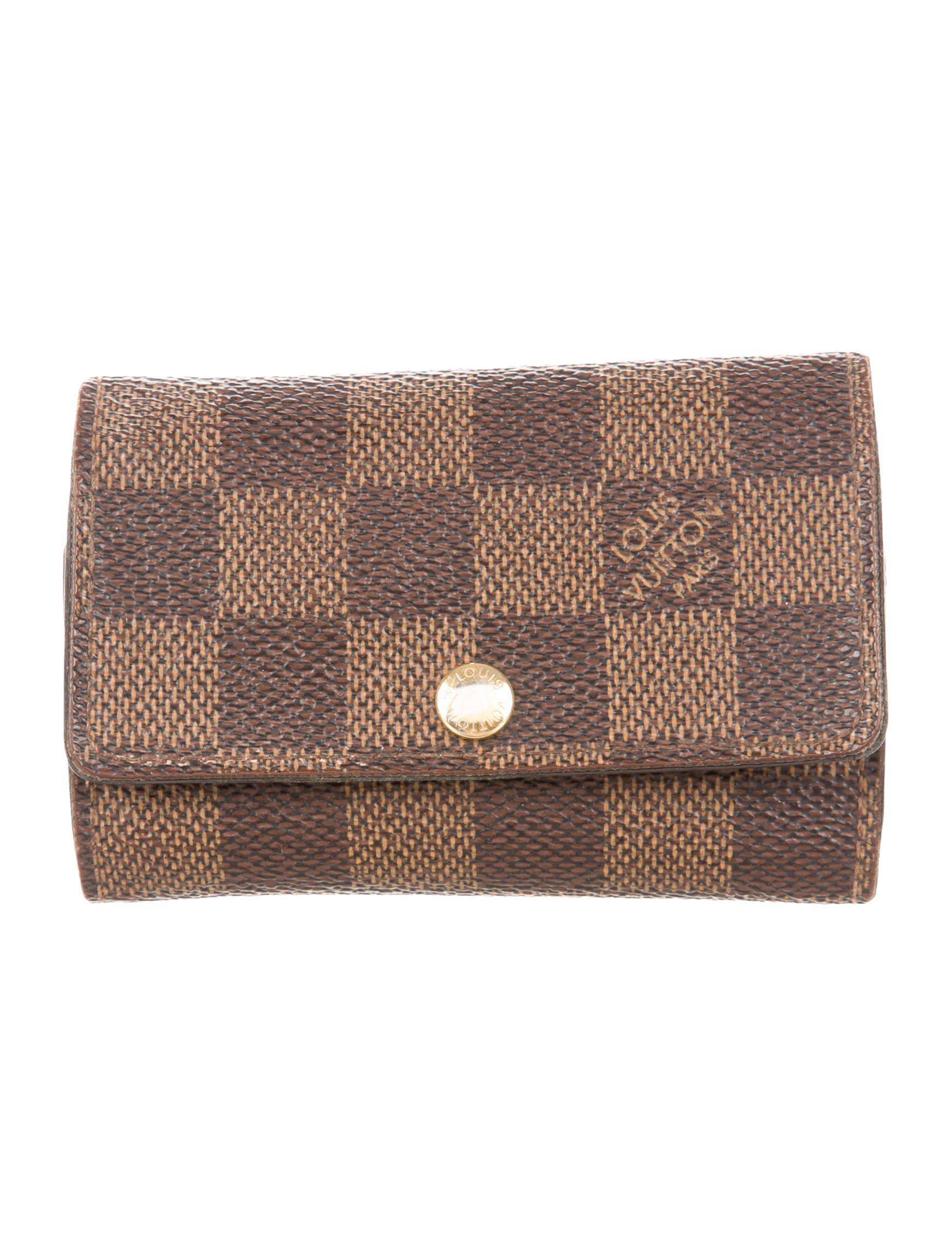 7a05363443e9f Lyst - Louis Vuitton Damier Ebene 6 Key Holder Brown in Natural