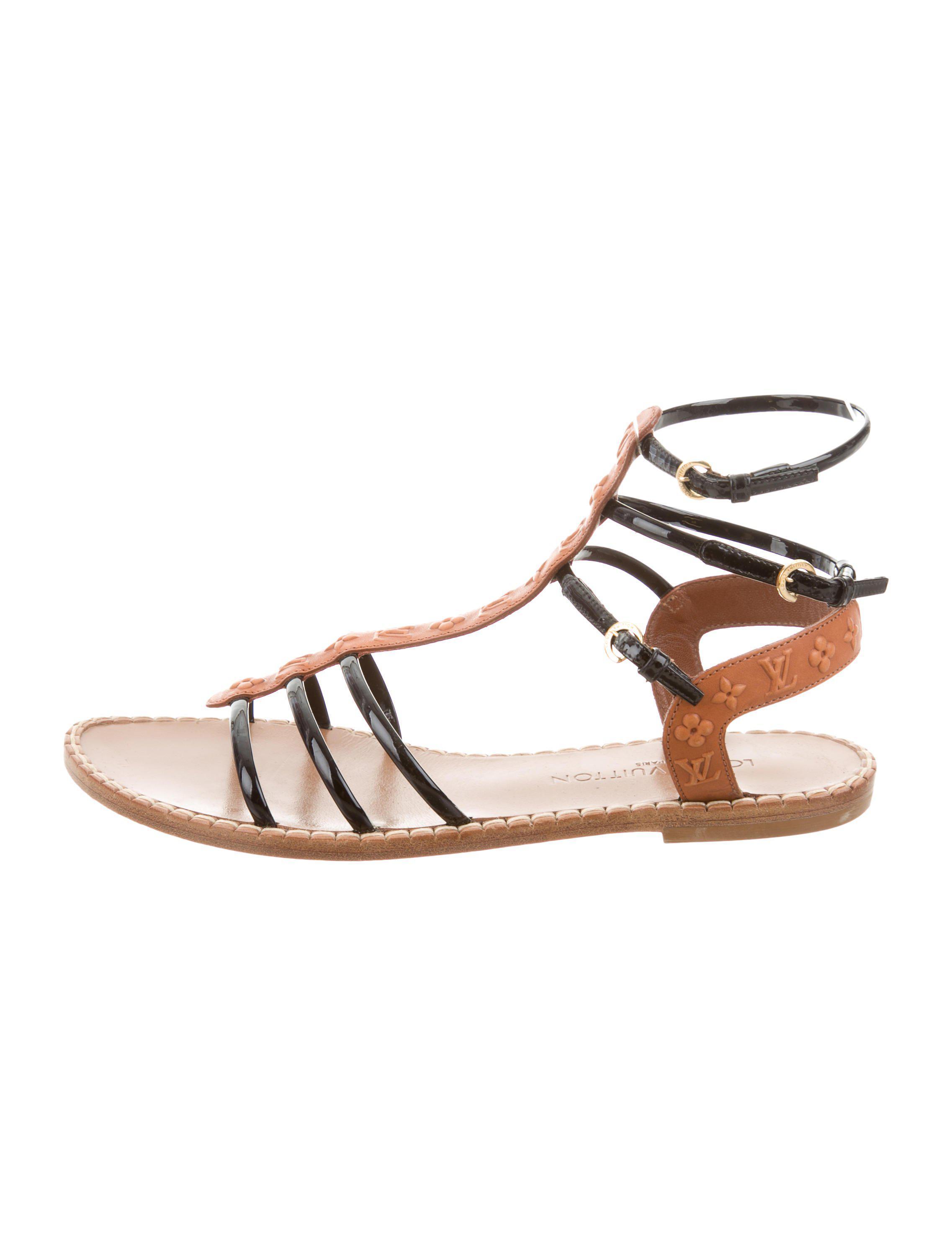 438222c21e627d ... Lyst - Louis Vuitton Monogram Multistrap Sandals in Black lowest  discount b484d bbbdb ...