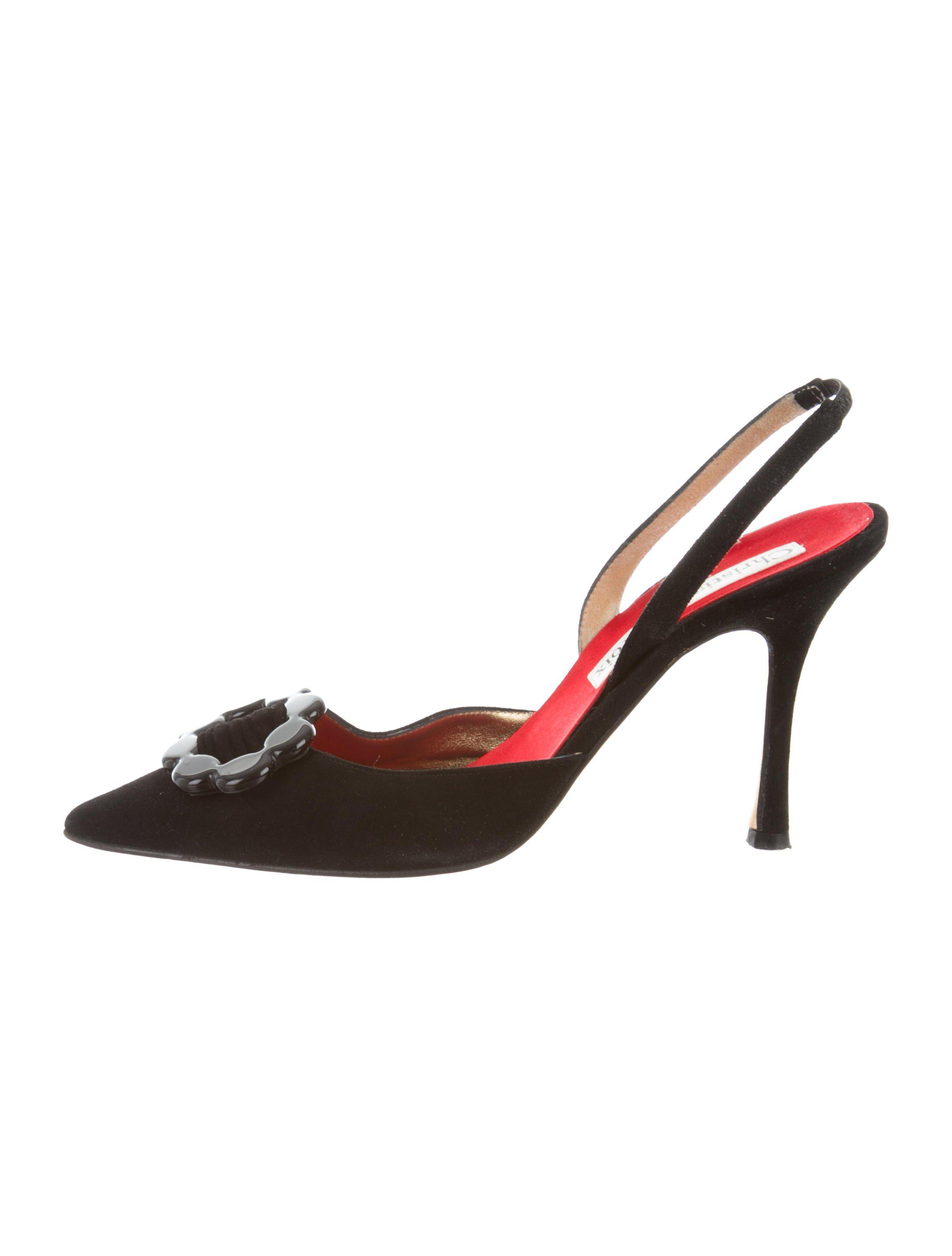 store with big discount cheap shop for Christian Lacroix Suede Slingback Pumps svwTcI
