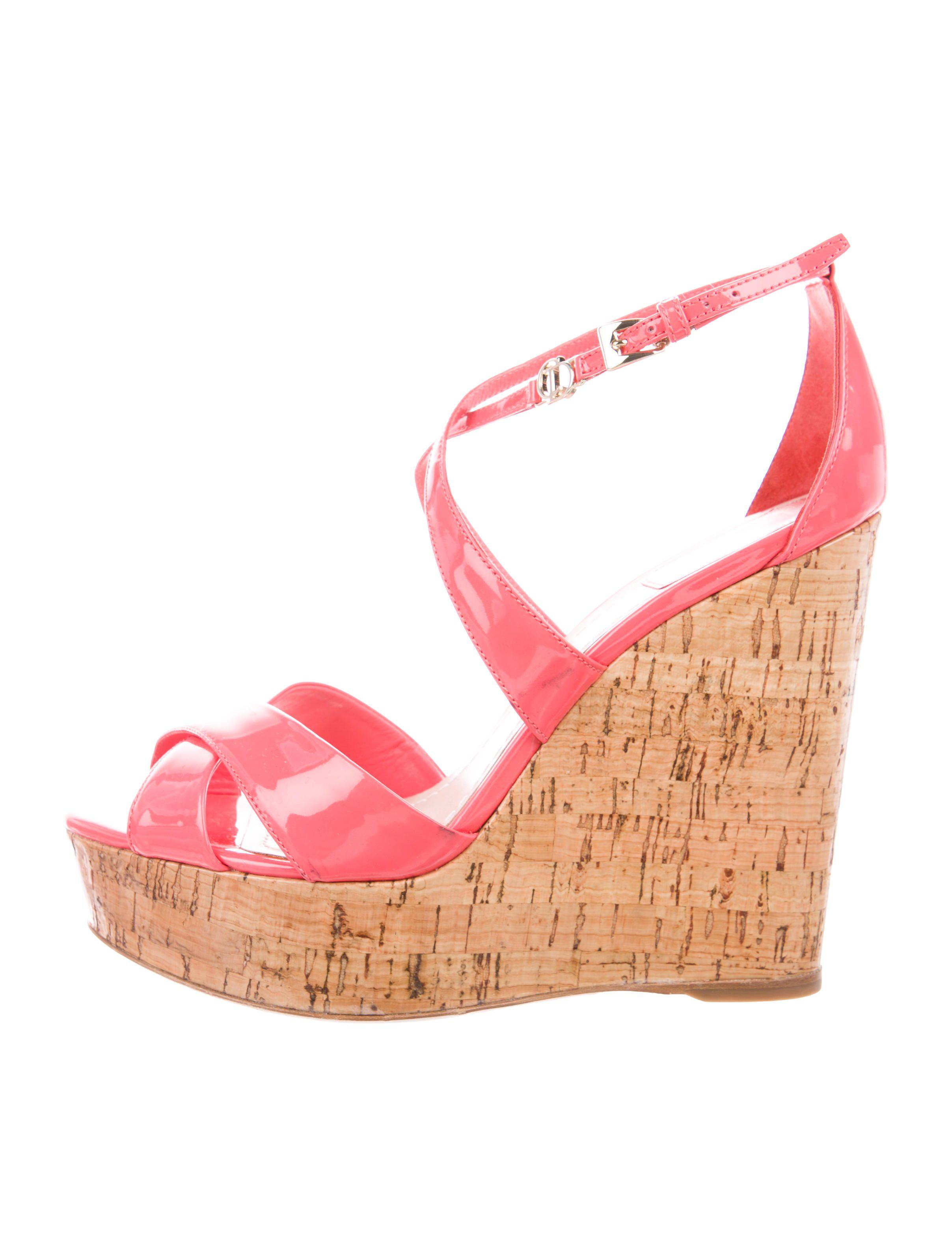 6532087b5f3 Lyst dior patent leather platform wedges coral in pink jpg 2415x3186 Dior  wedges