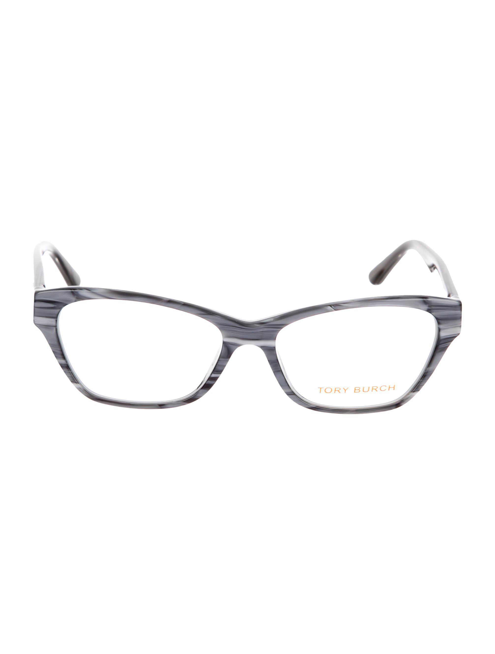 cdf3818a1661 Lyst - Tory Burch Marble Logo Eyeglasses Grey in Gray