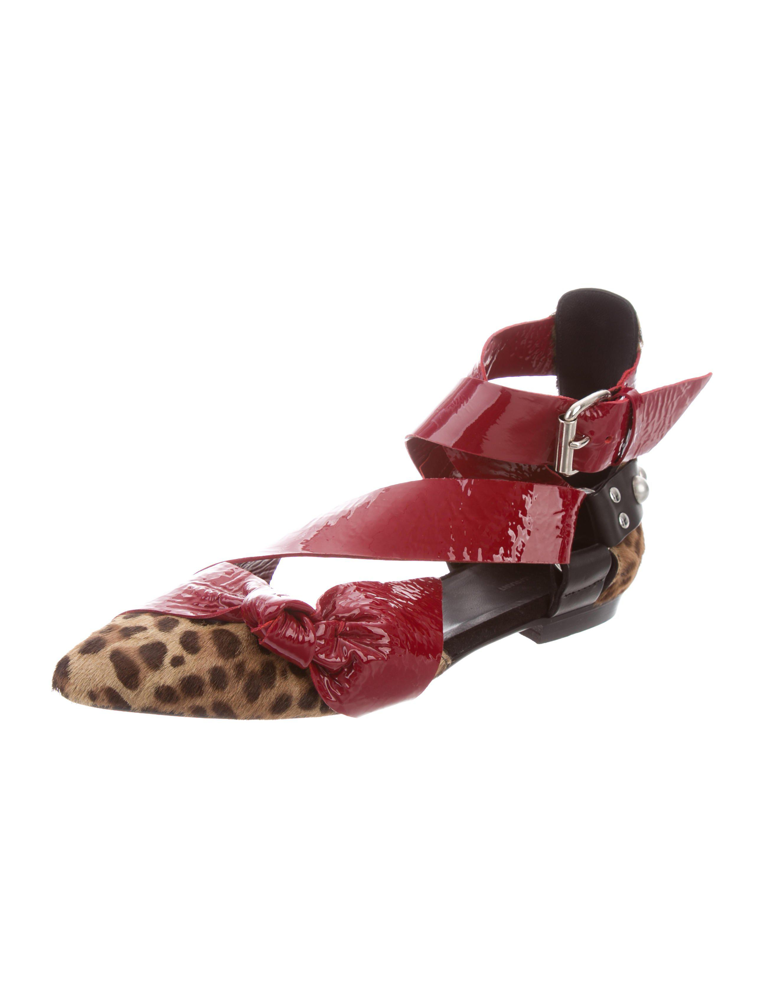 clearance wholesale price Isabel Marant Bow Ponyhair-Trimmed Flats free shipping wiki discount pre order exclusive cheap online clearance pay with paypal 6zY0Z1VsZt